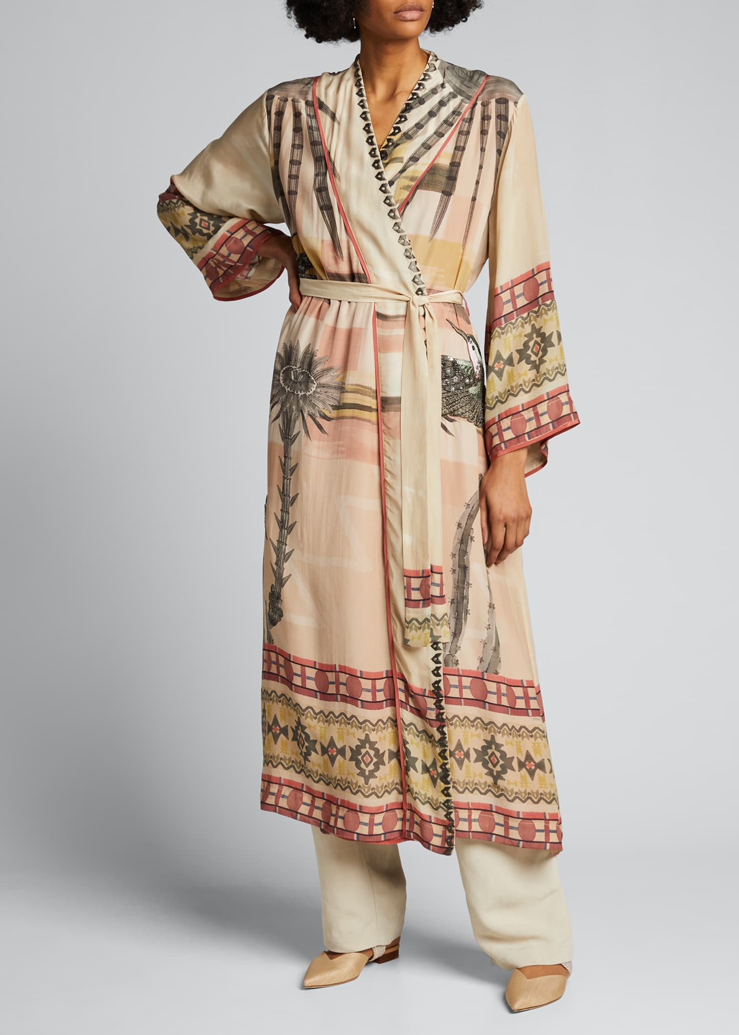 Image 3 of 5: Nanuk Long Robe Dress