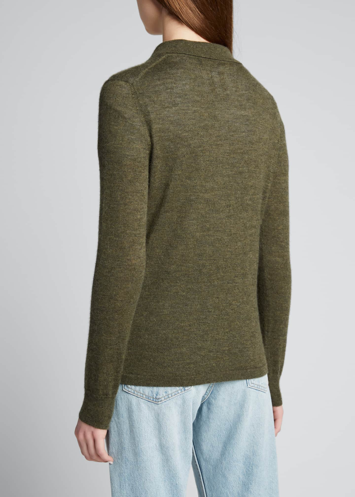 Image 2 of 5: Cashmere Polo Sweater