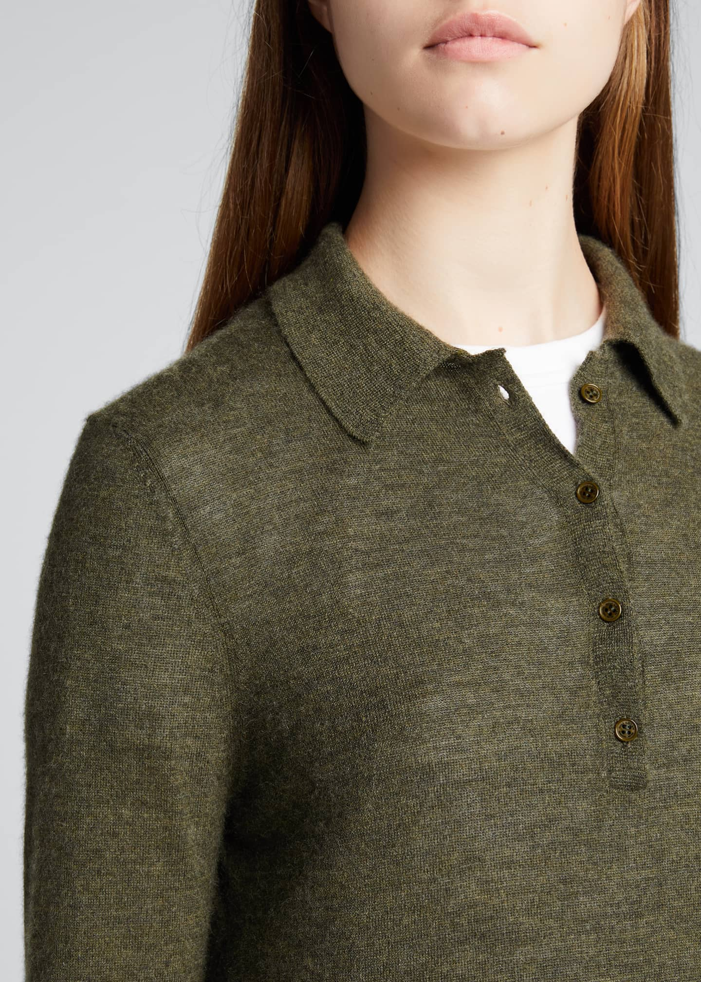 Image 4 of 5: Cashmere Polo Sweater