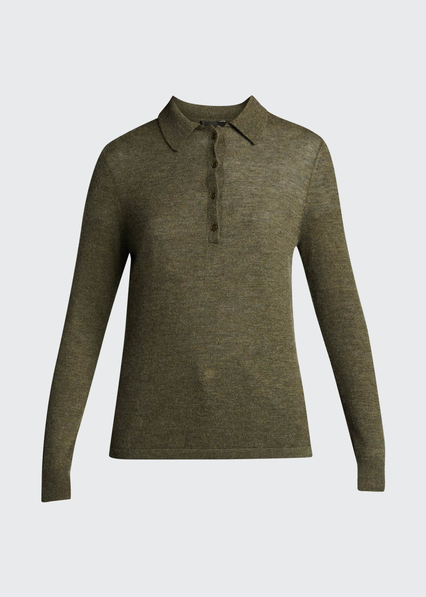 Image 5 of 5: Cashmere Polo Sweater