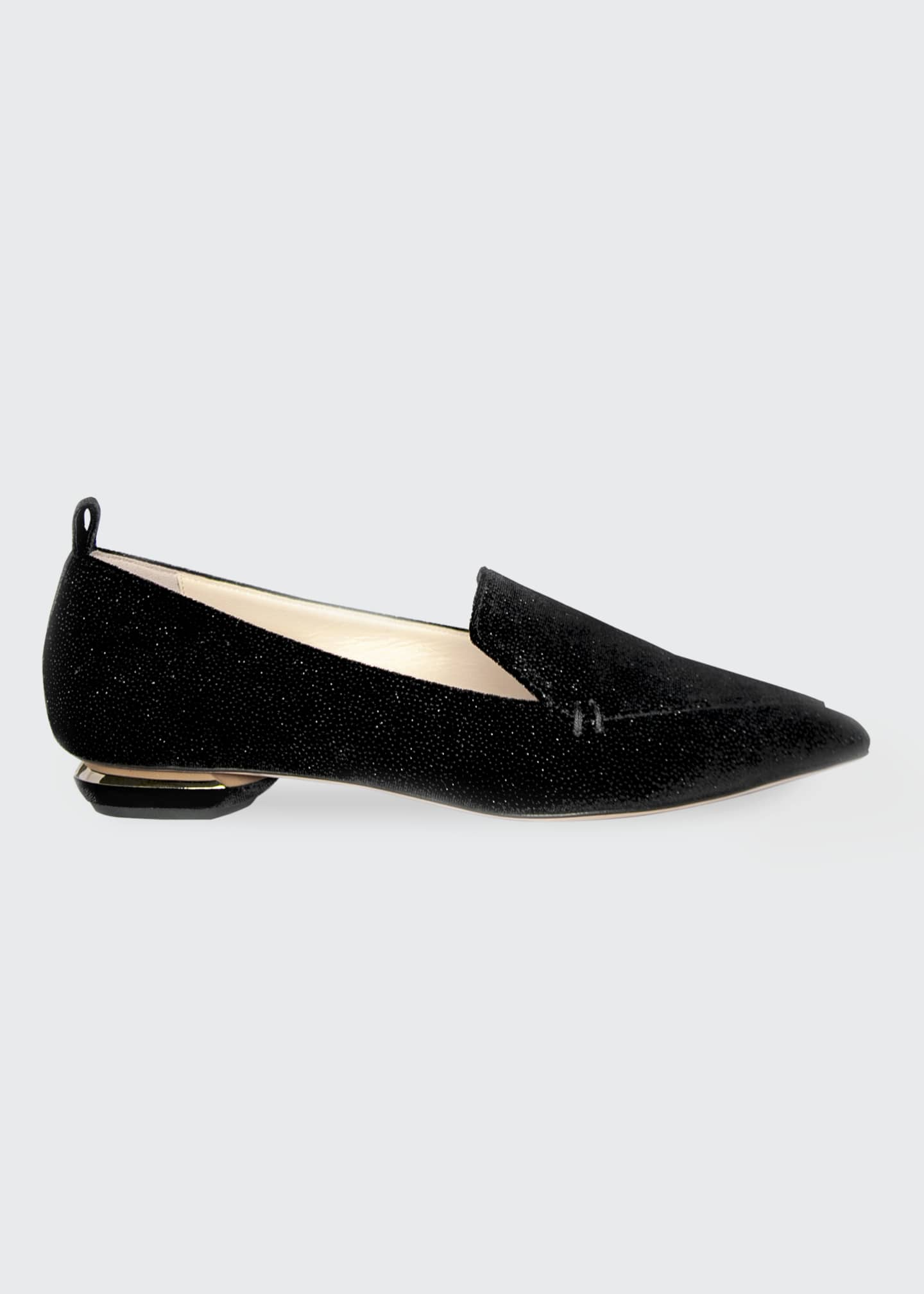 Image 1 of 1: Beya Shimmering Flat Loafers