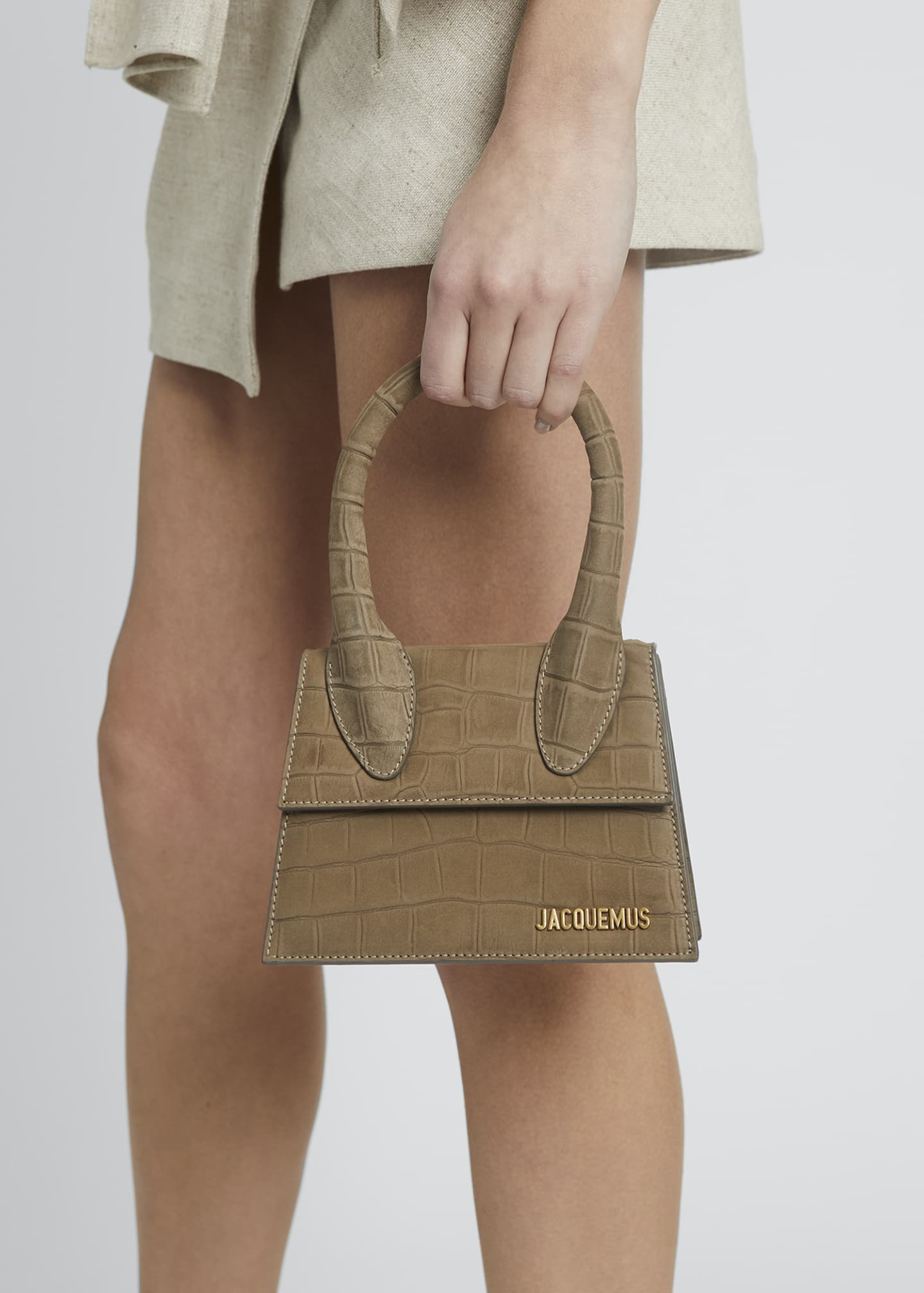 Image 2 of 5: Le Chiquito Moyen Mock-Croc Top Handle Bag