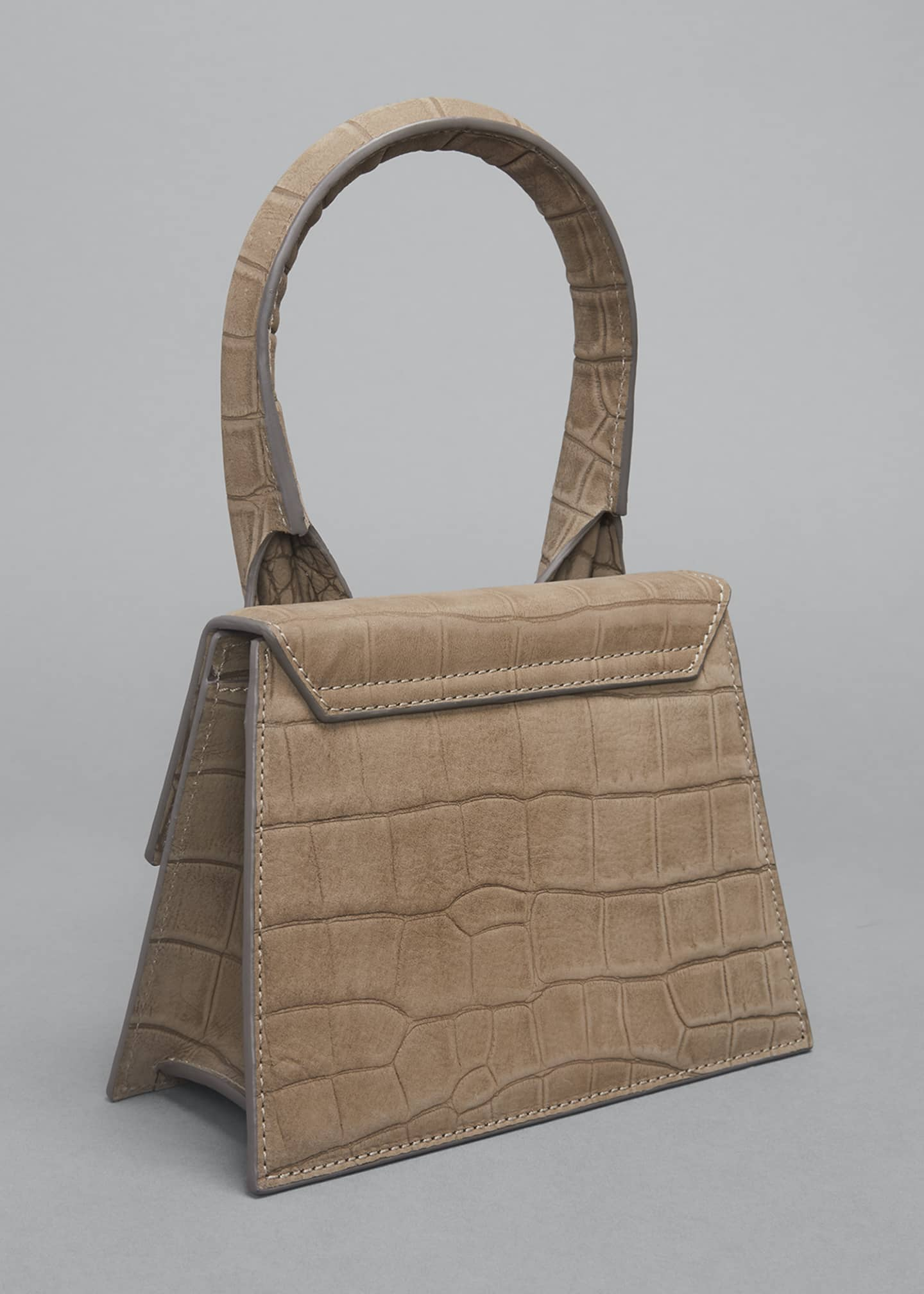 Image 3 of 5: Le Chiquito Moyen Mock-Croc Top Handle Bag