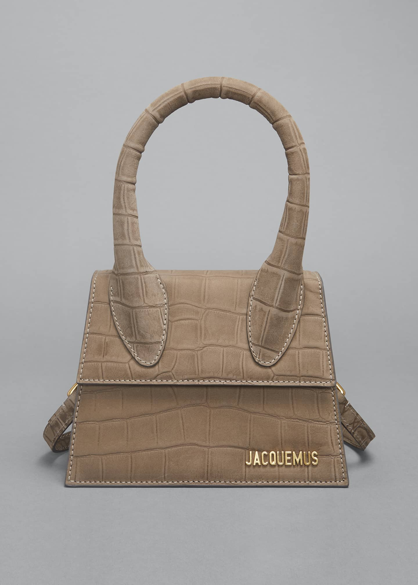 Image 1 of 5: Le Chiquito Moyen Mock-Croc Top Handle Bag