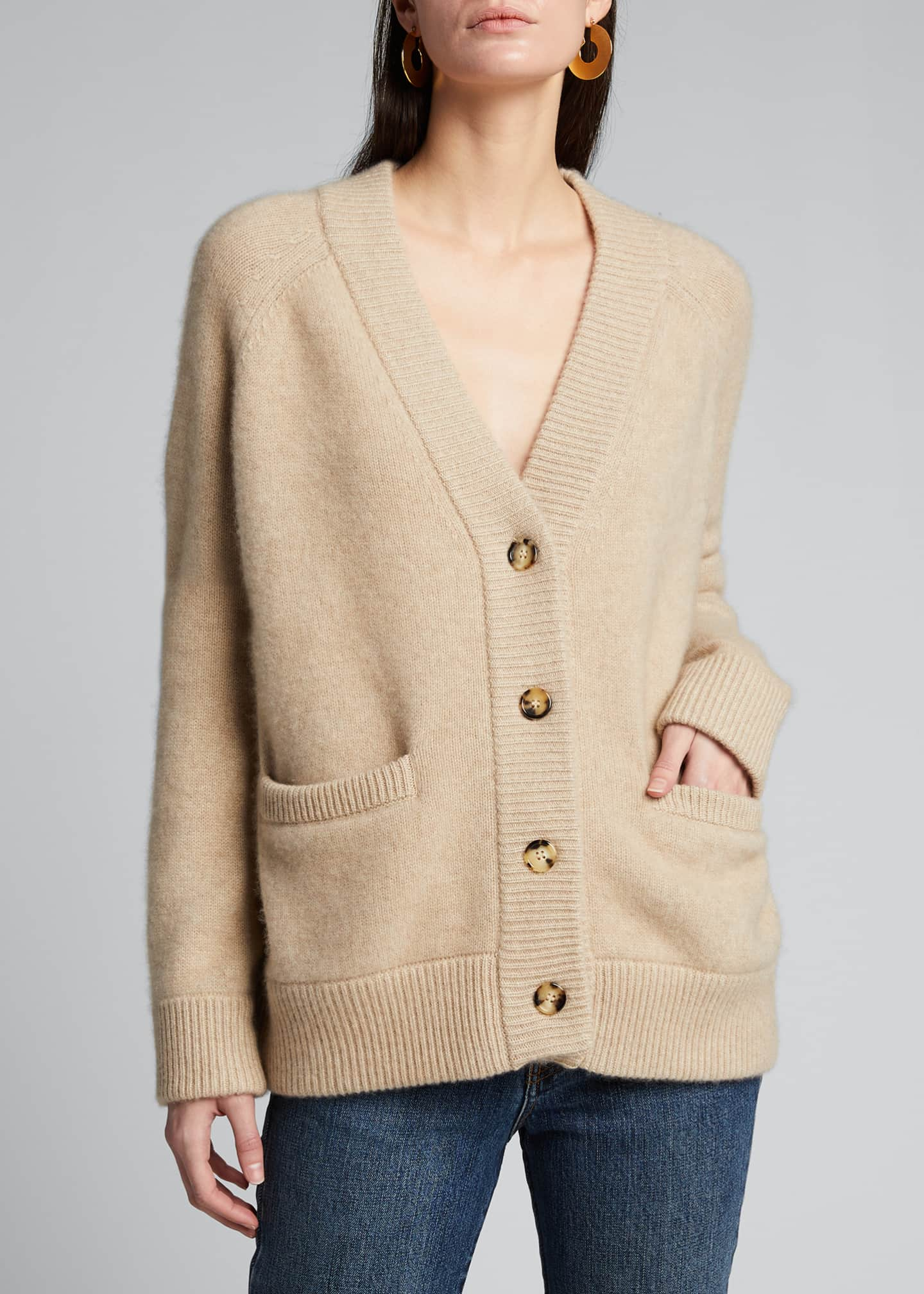 Image 3 of 5: Cashmere Cropped Cardigan