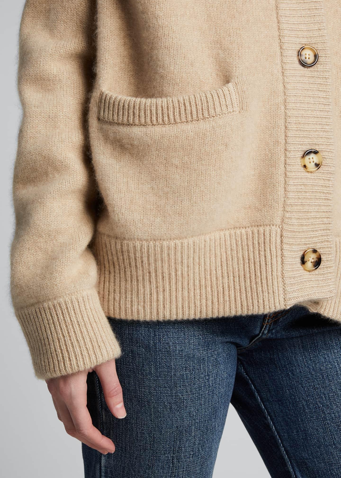 Image 4 of 5: Cashmere Cropped Cardigan