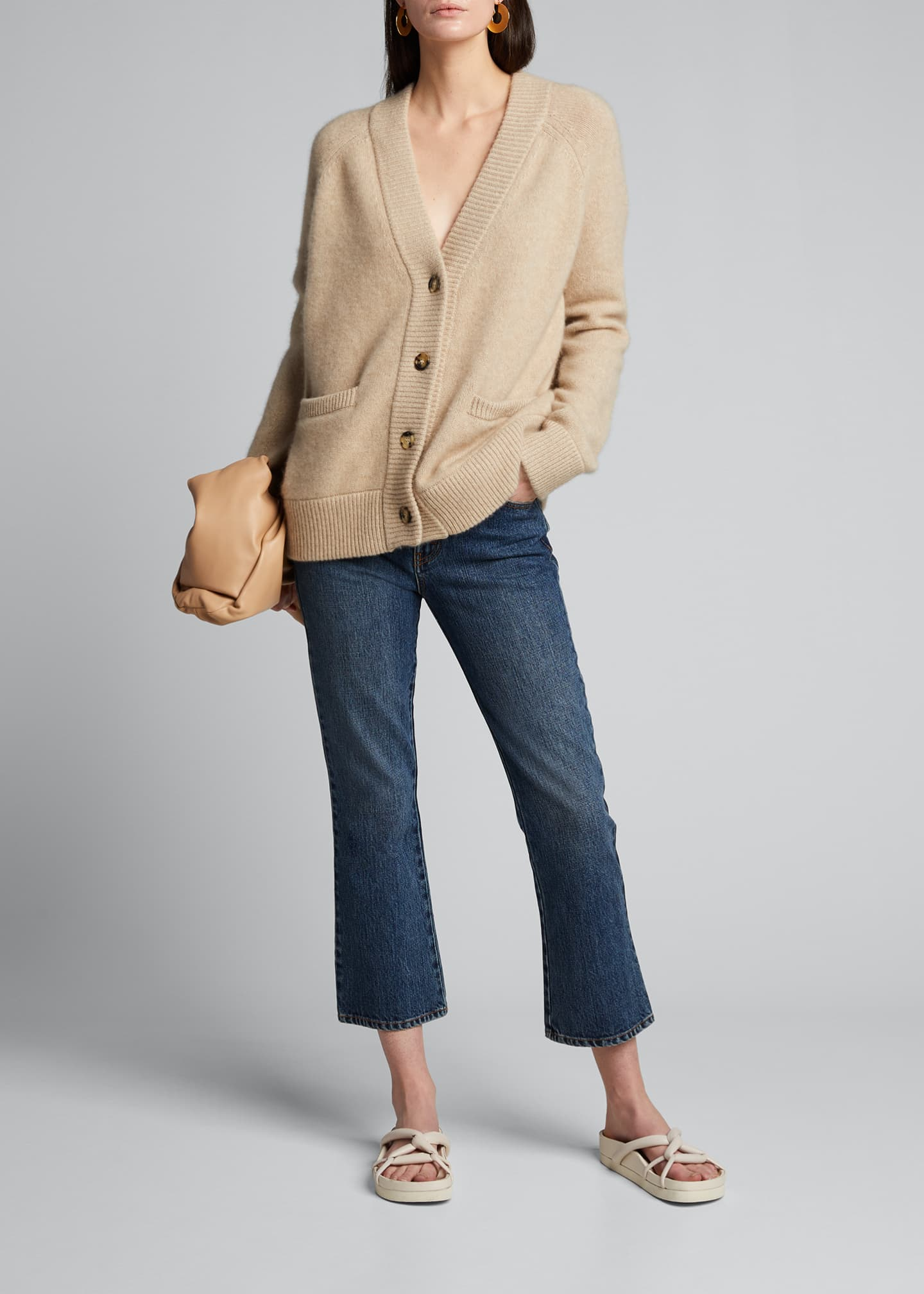 Image 1 of 5: Cashmere Cropped Cardigan