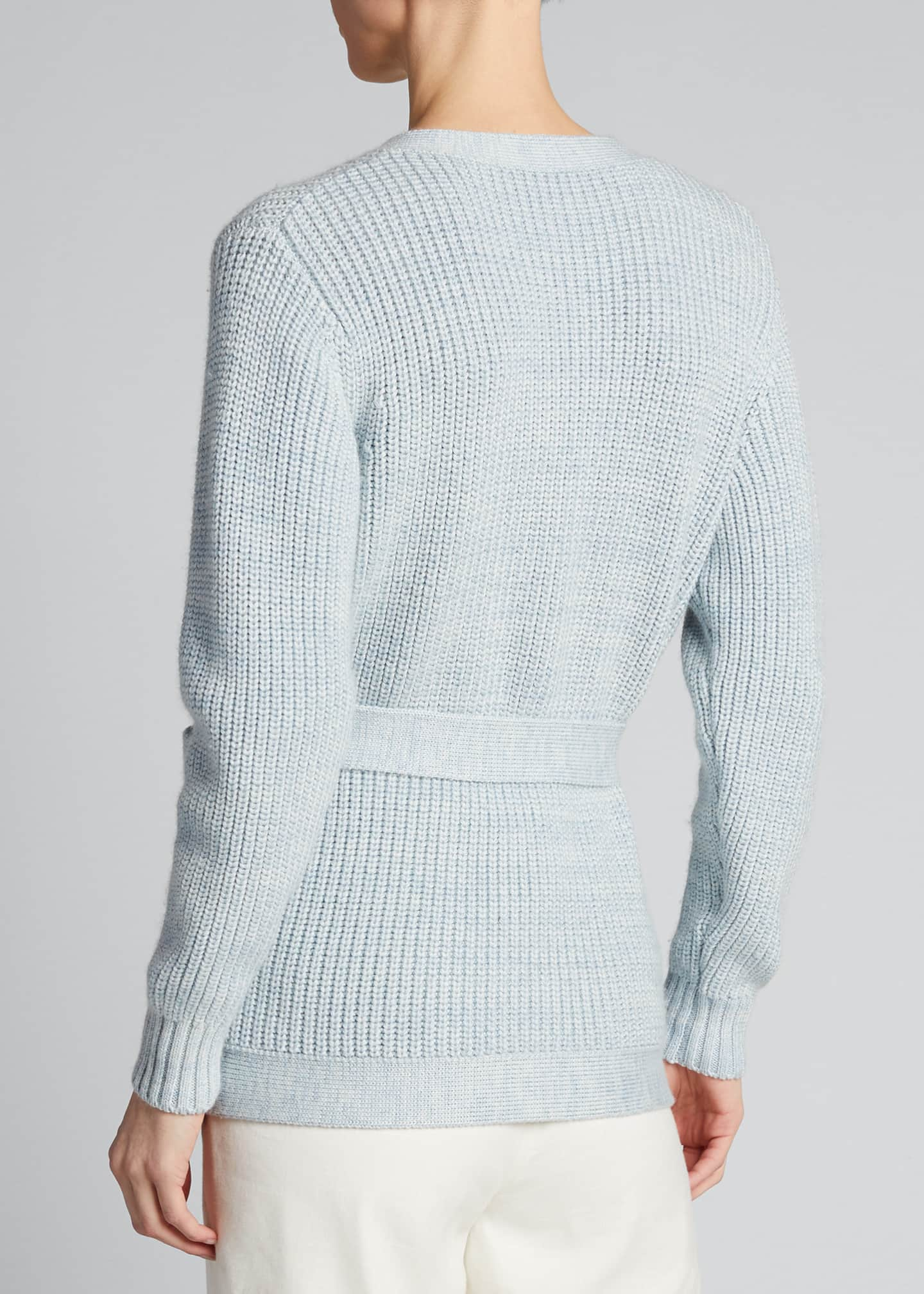 Image 2 of 5: Fine Ribbed-Knit Slouchy Cardigan