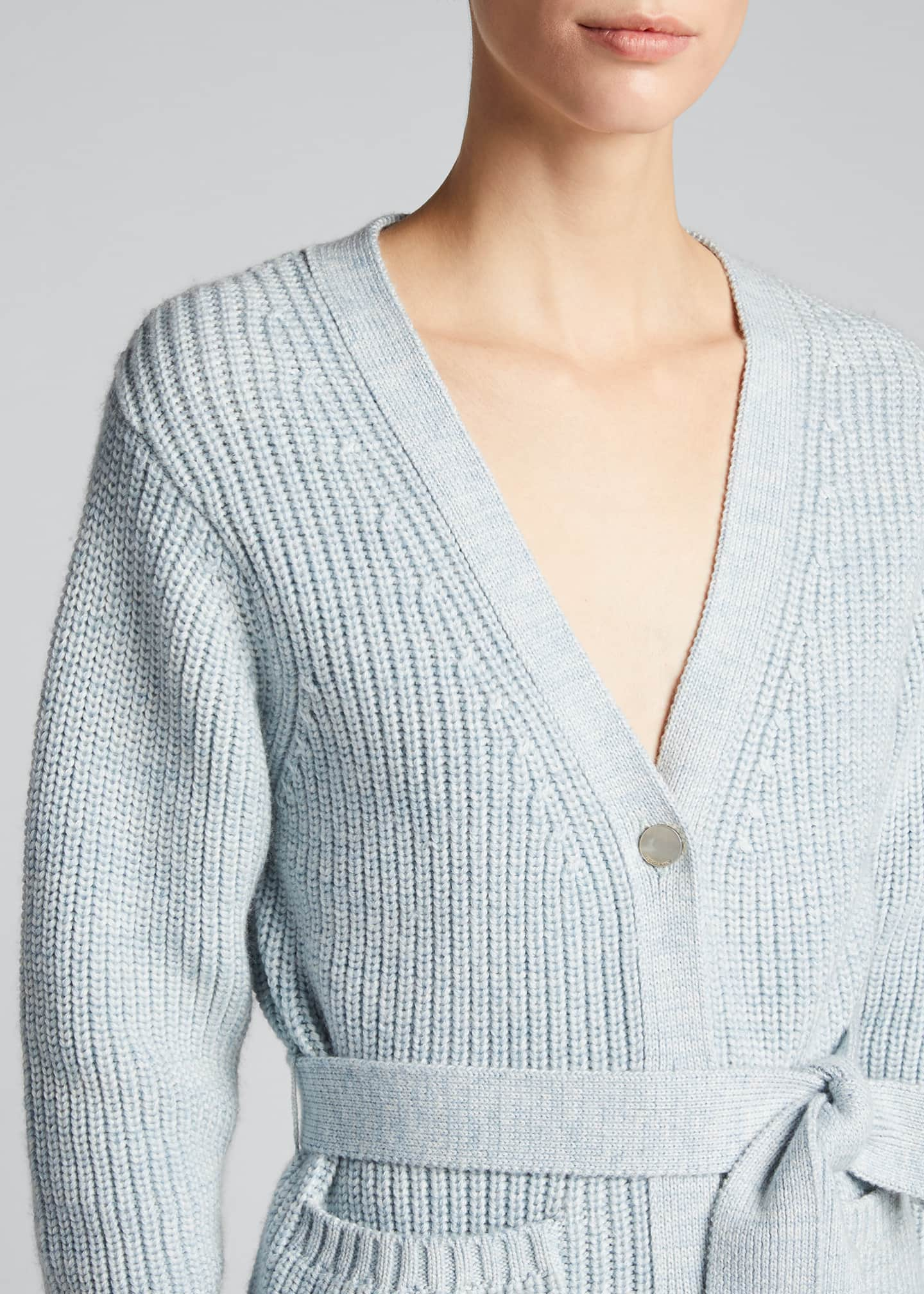 Image 4 of 5: Fine Ribbed-Knit Slouchy Cardigan