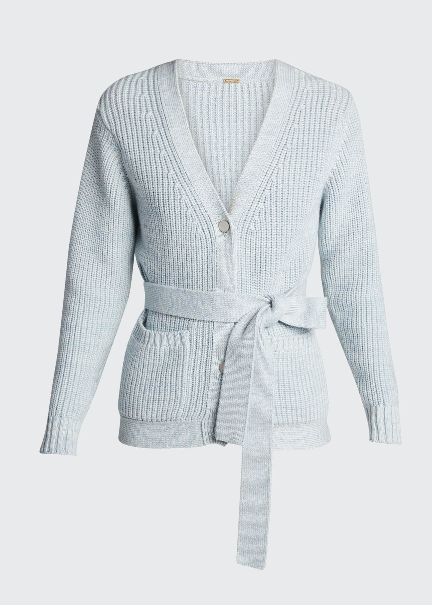 Image 5 of 5: Fine Ribbed-Knit Slouchy Cardigan