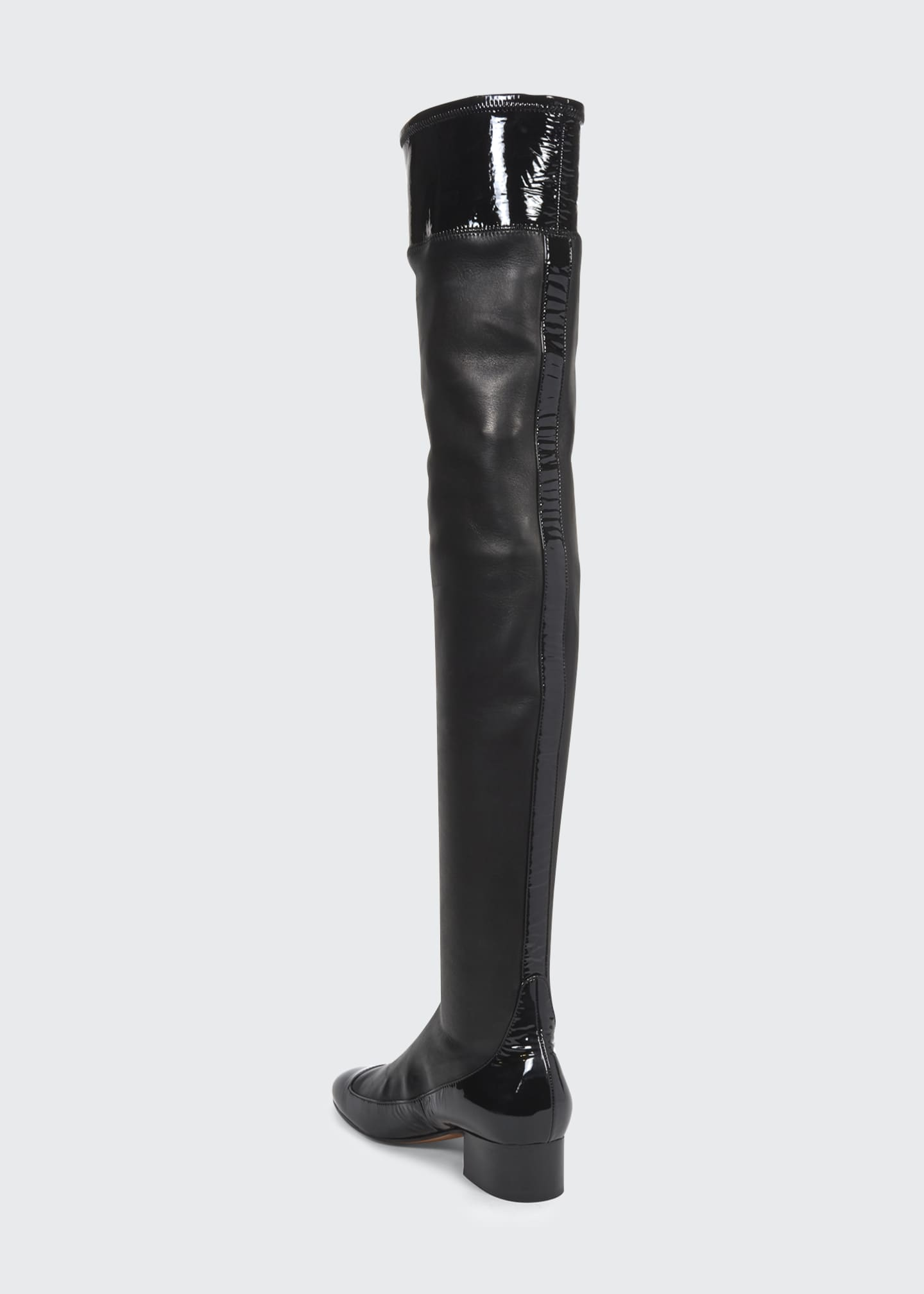 Image 3 of 4: 40mm Stretch Thigh-High Boots