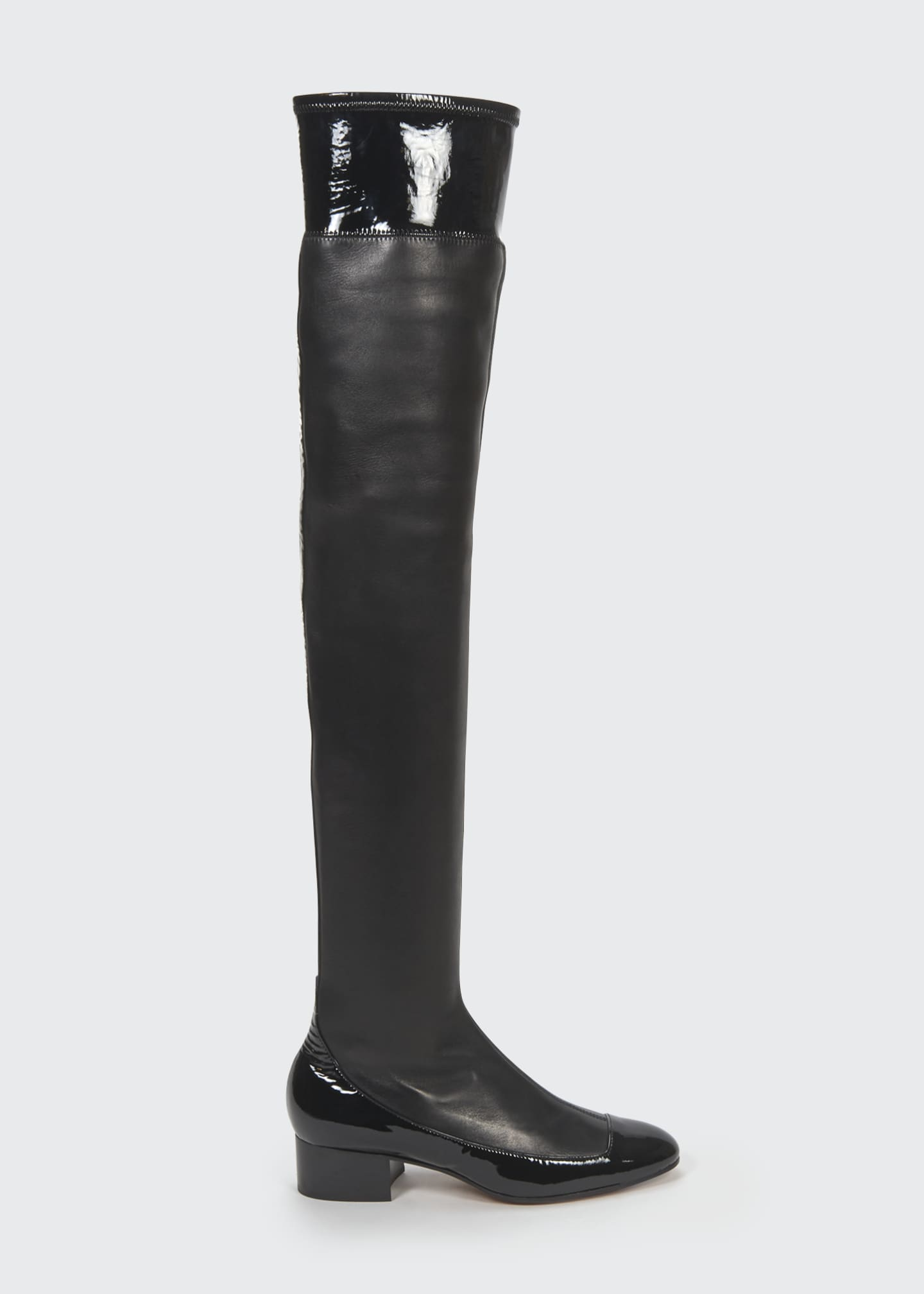Image 1 of 4: 40mm Stretch Thigh-High Boots