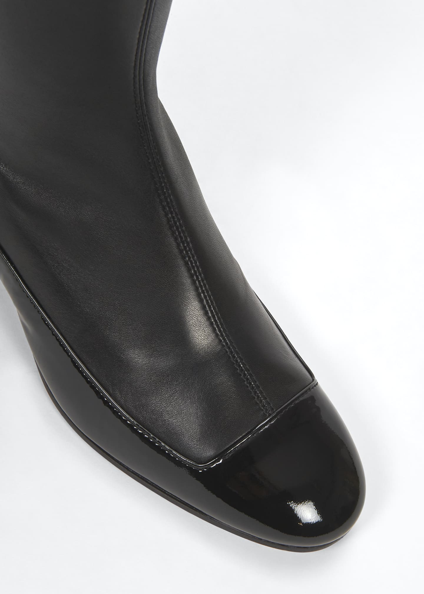 Image 4 of 4: 40mm Stretch Thigh-High Boots