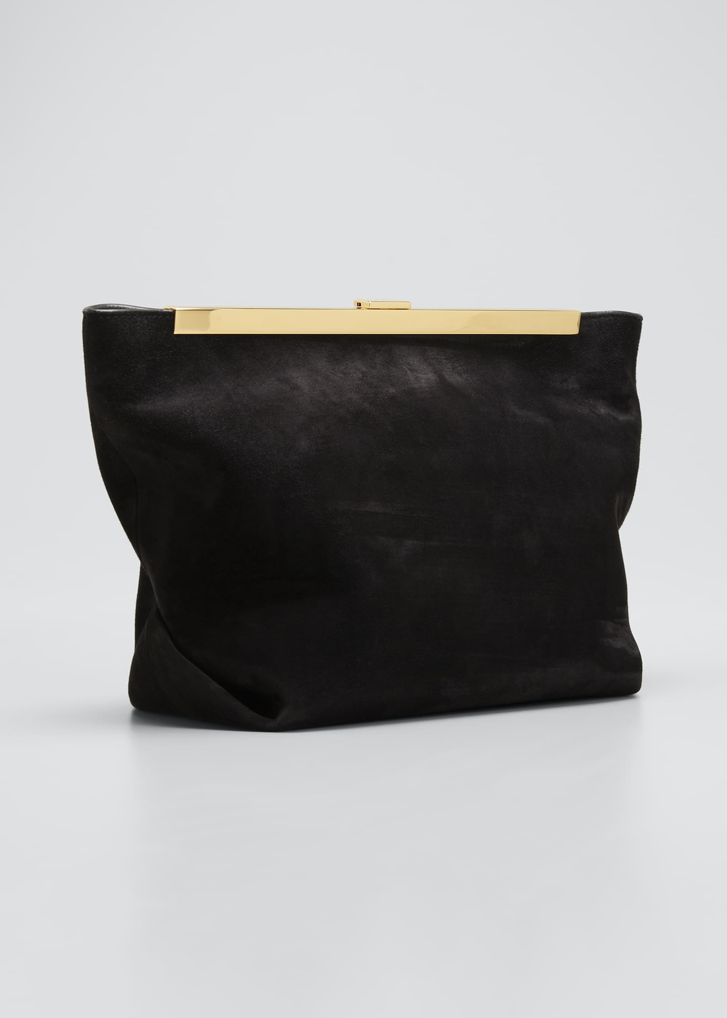 Image 3 of 5: Augusta Frame Suede Clutch Bag