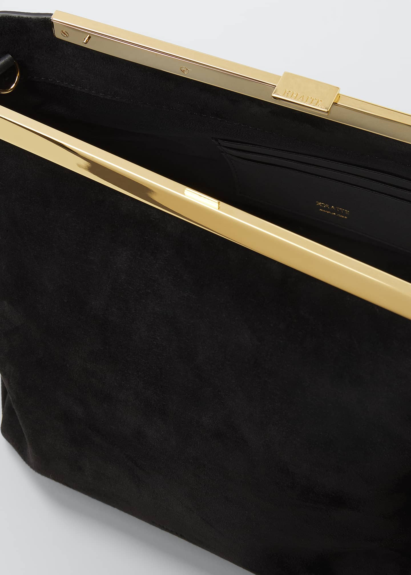 Image 4 of 5: Augusta Frame Suede Clutch Bag