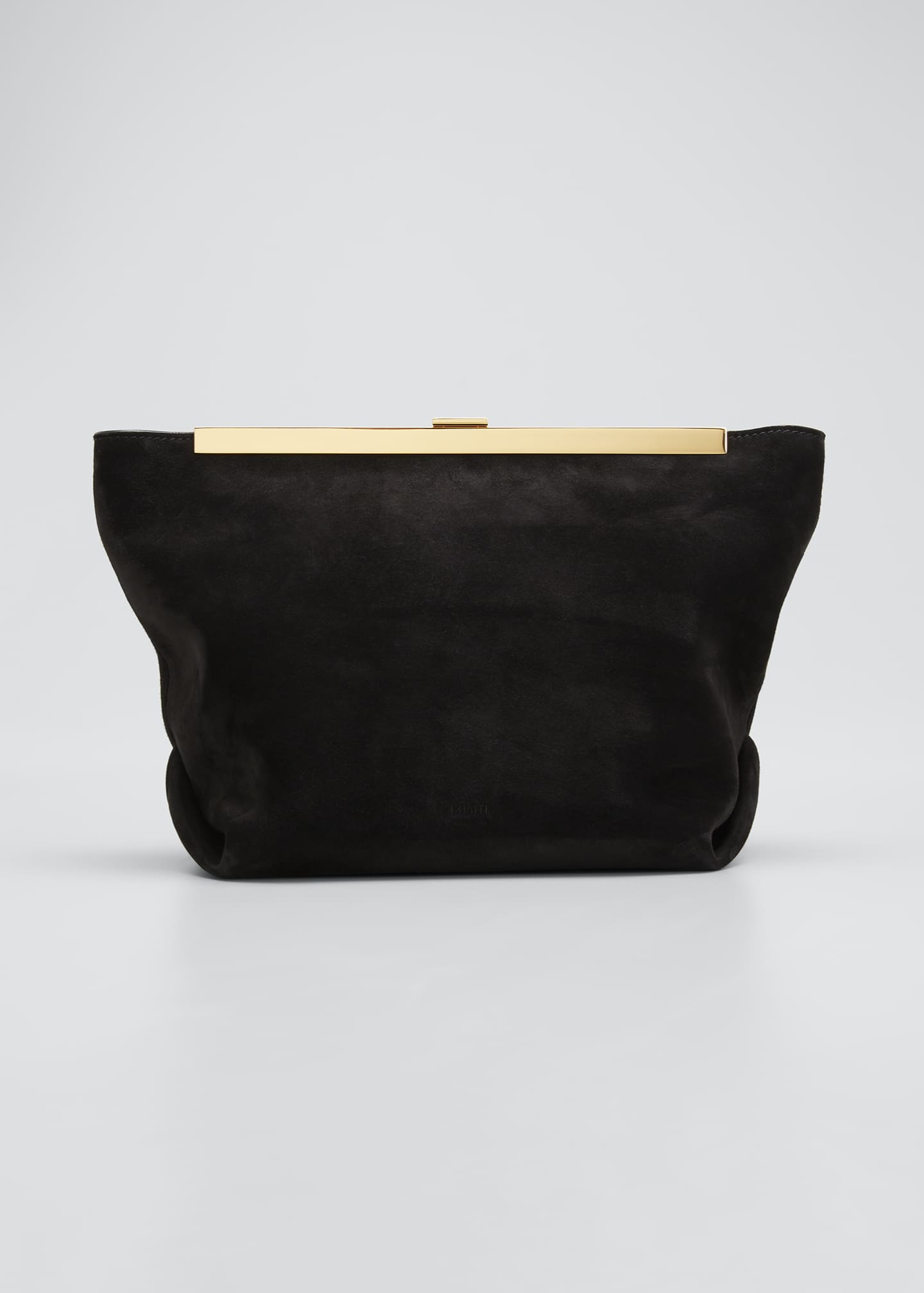 Image 1 of 5: Augusta Frame Suede Clutch Bag