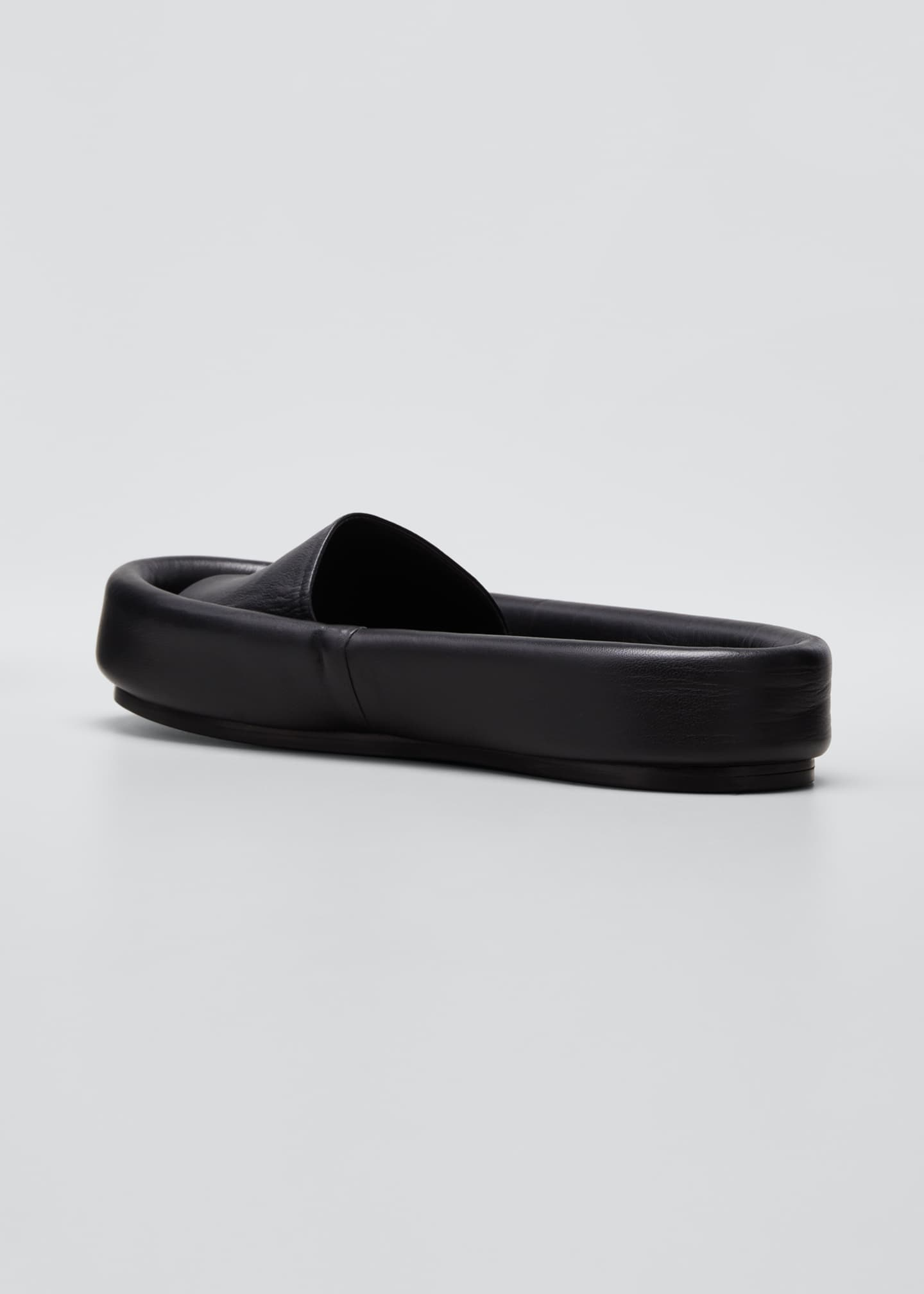 Image 4 of 5: Venice Leather Pool Slide Sandals