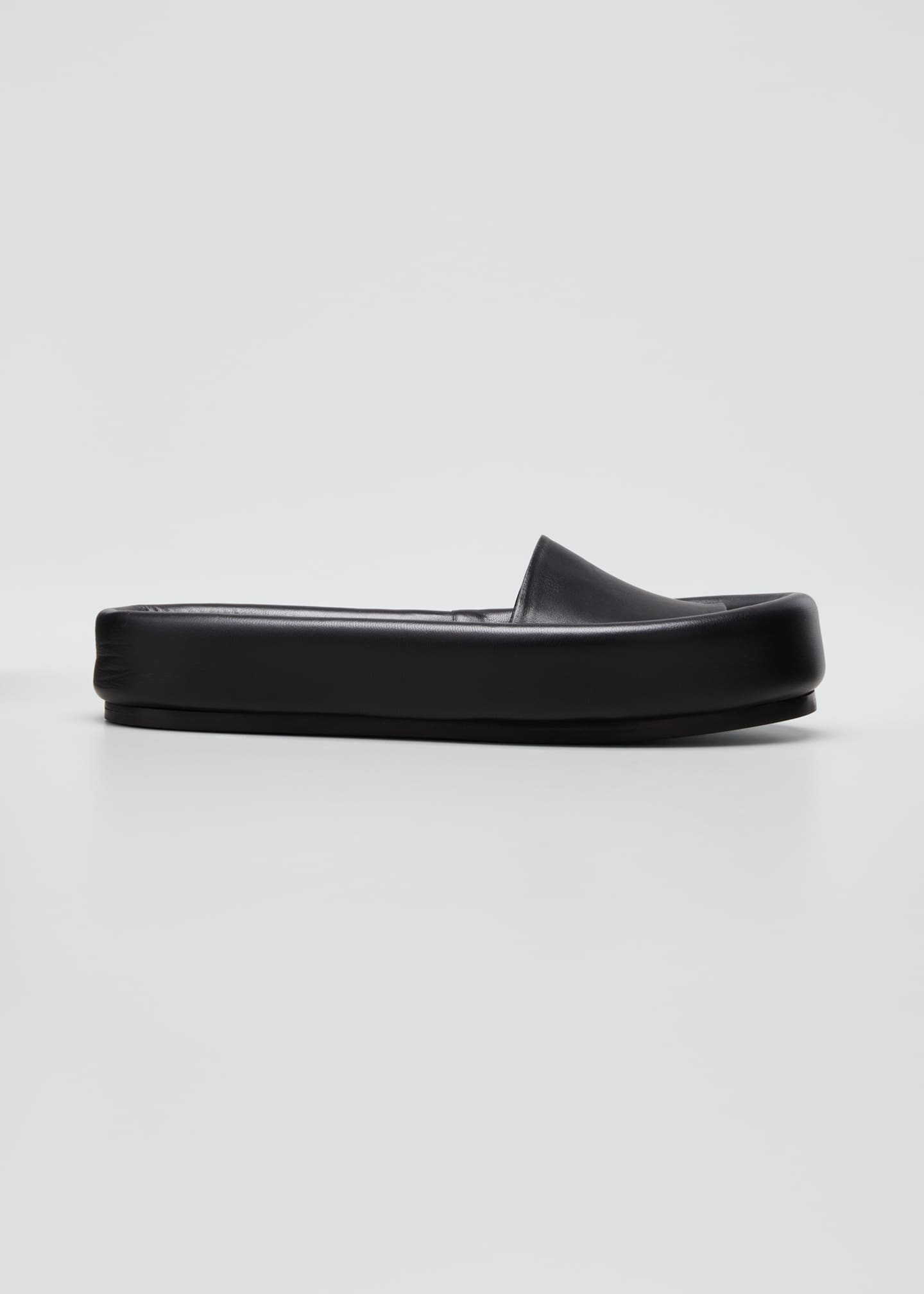 Image 1 of 5: Venice Leather Pool Slide Sandals