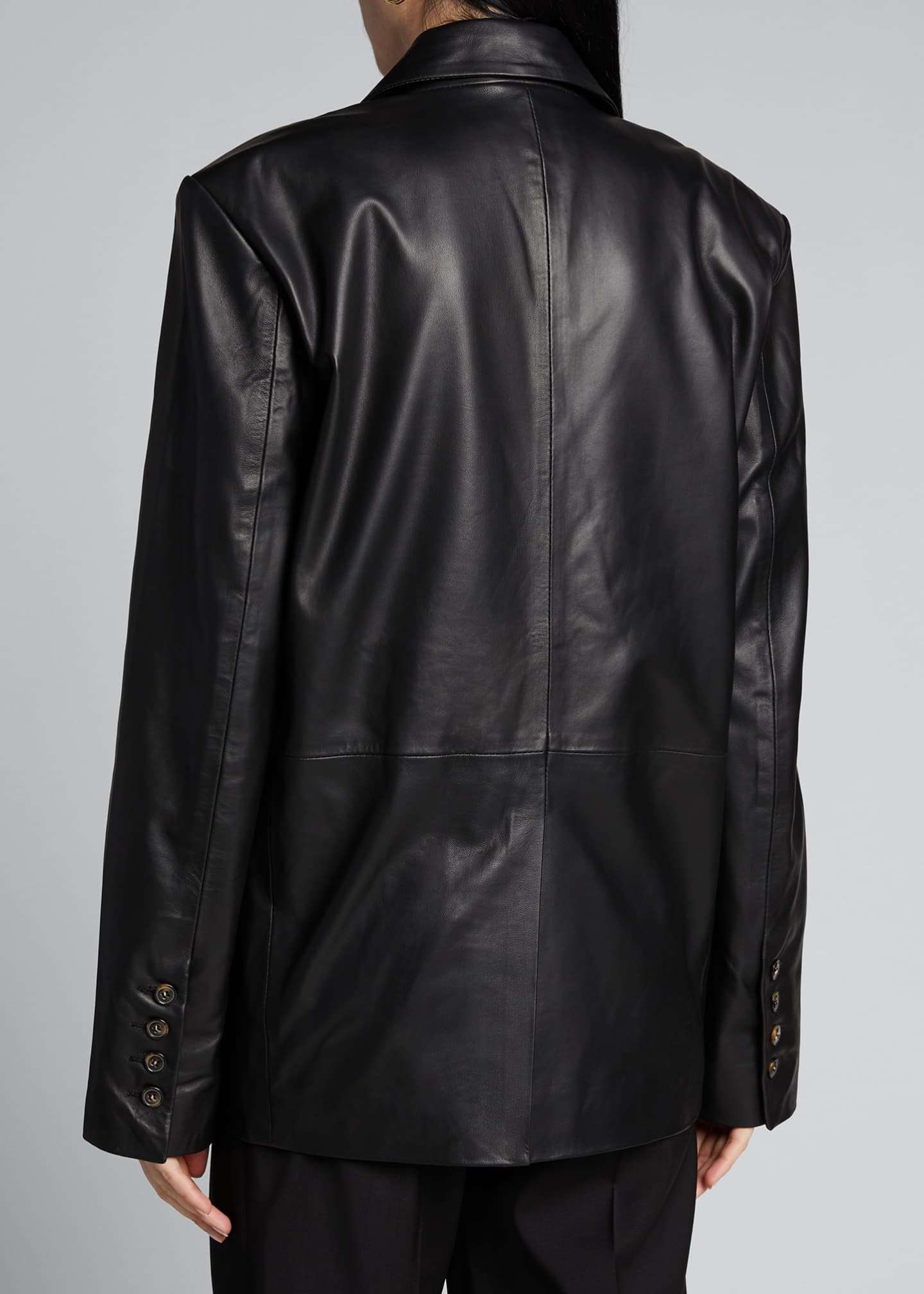 Image 2 of 5: Leather Blazer