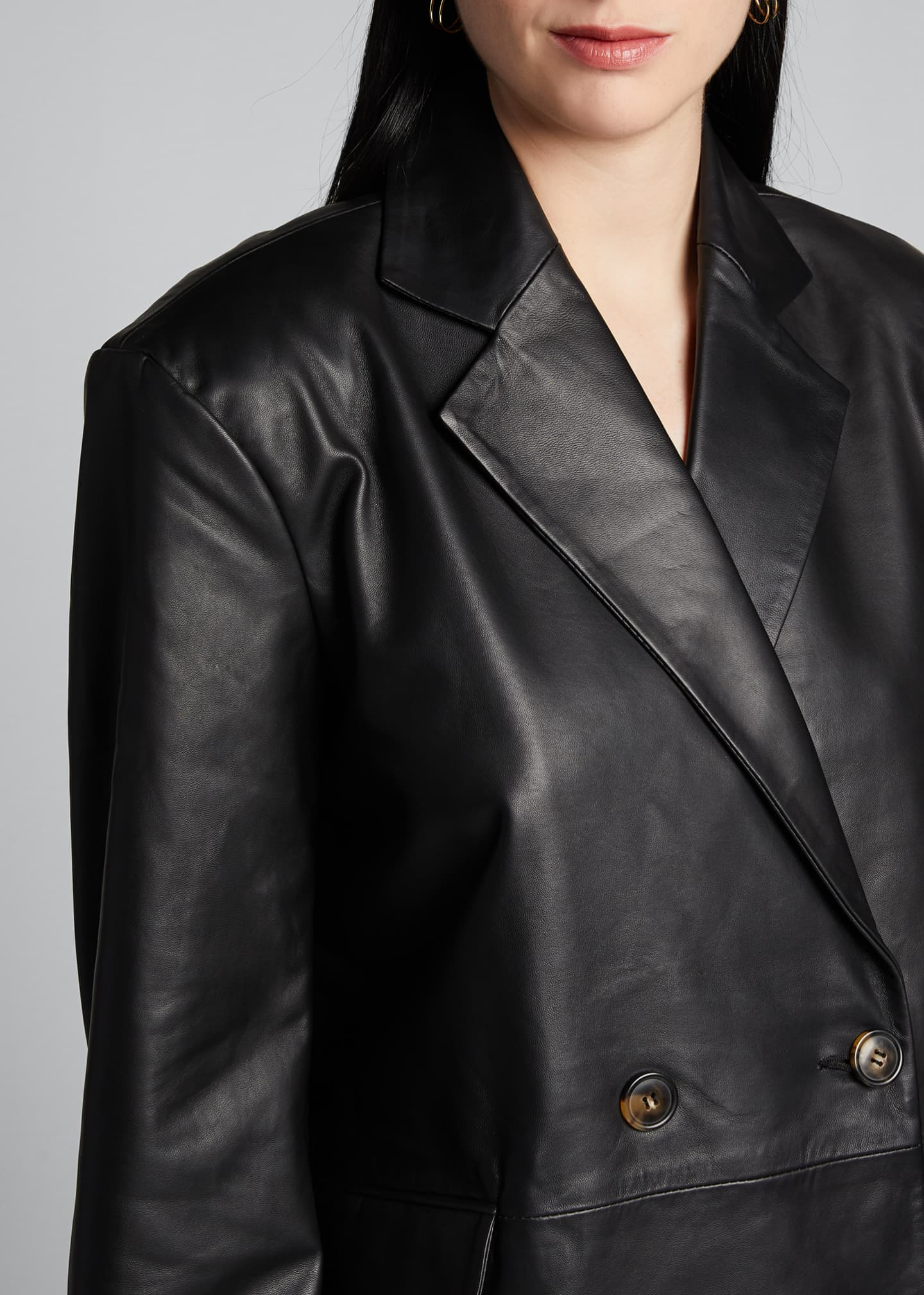 Image 4 of 5: Leather Blazer