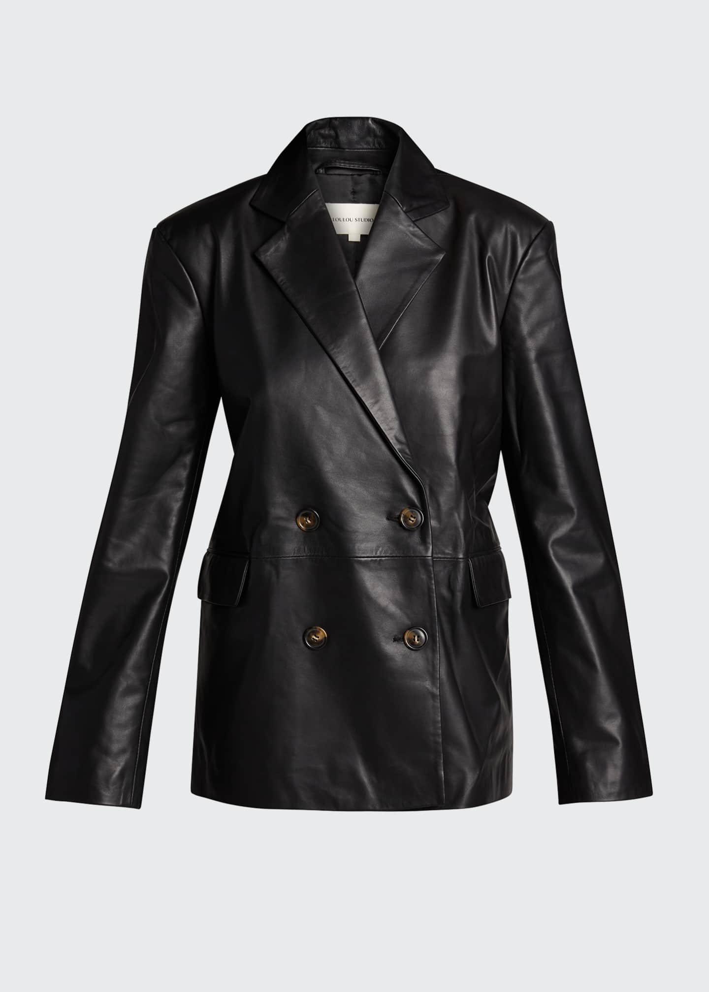 Image 5 of 5: Leather Blazer