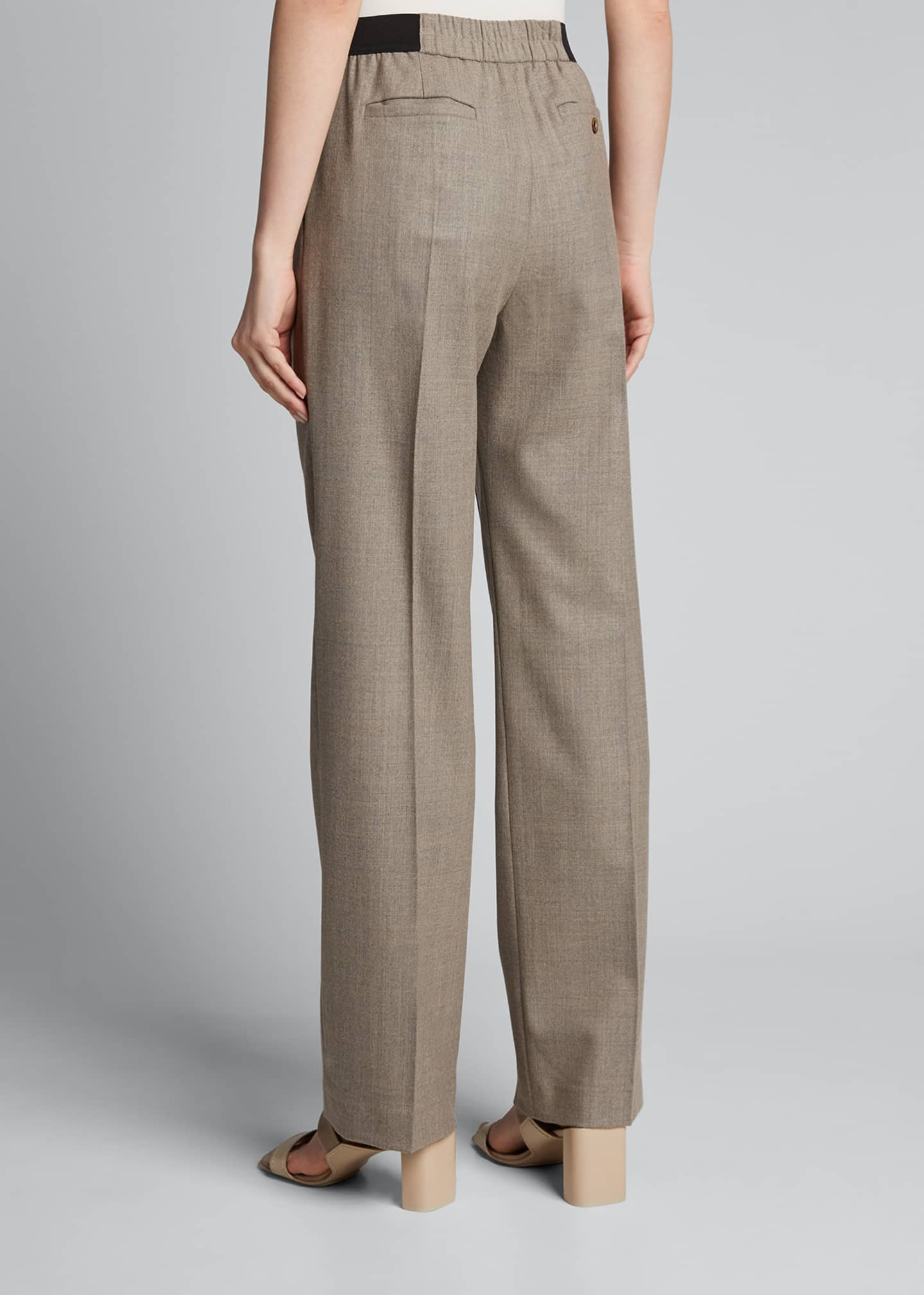 Image 2 of 5: Elastic-Back Trousers