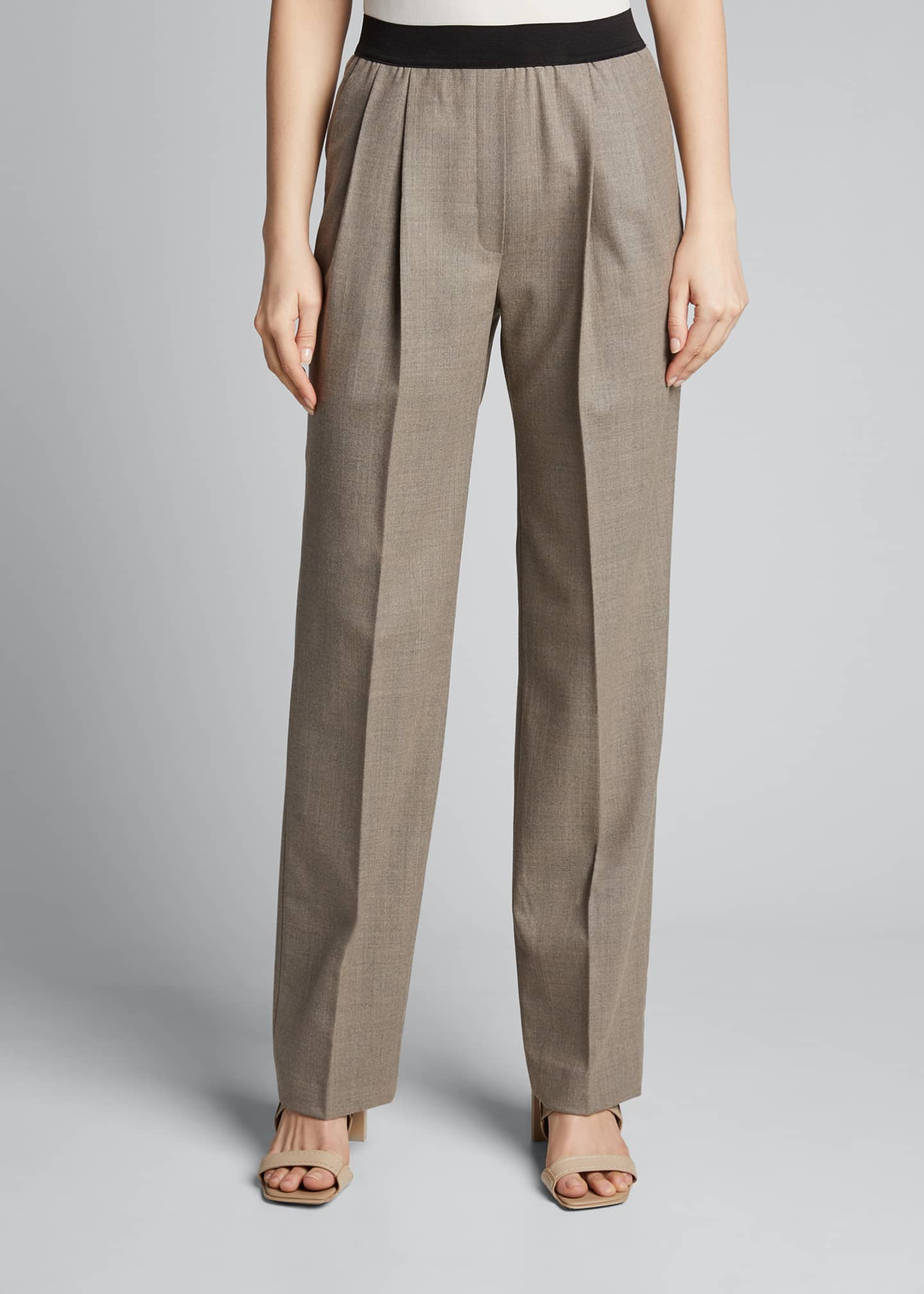 Image 3 of 5: Elastic-Back Trousers