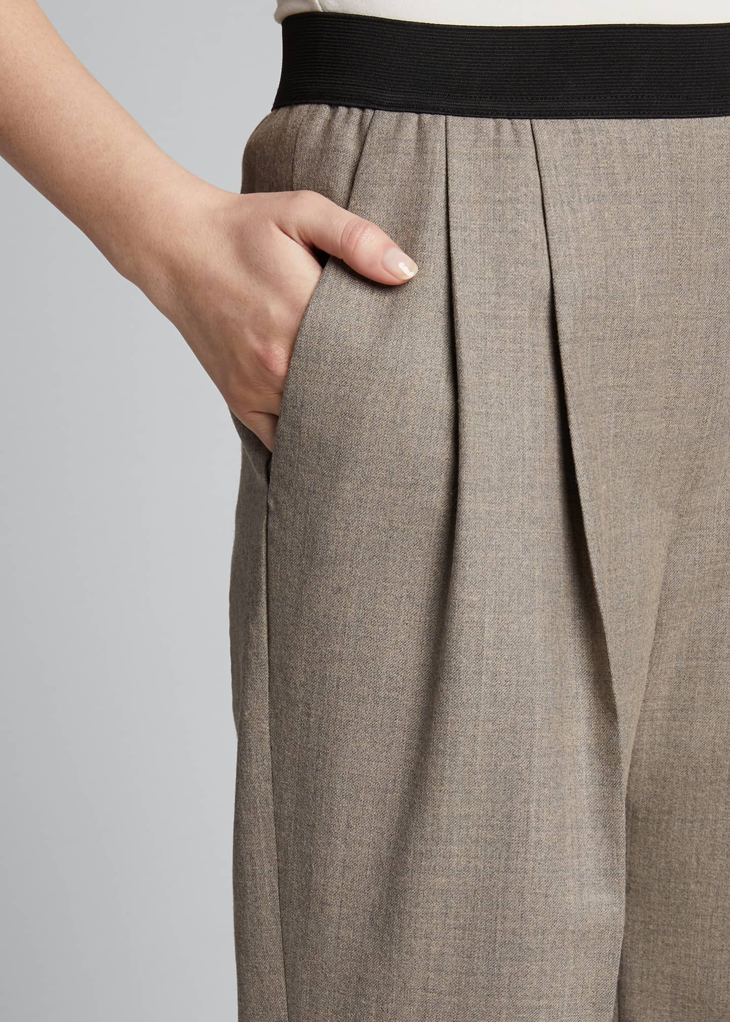 Image 4 of 5: Elastic-Back Trousers