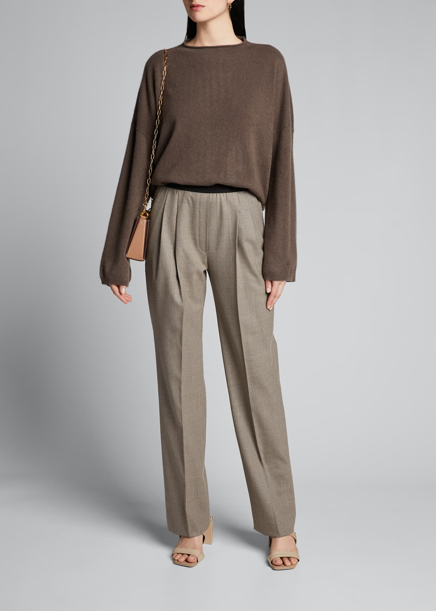 Image 1 of 5: Elastic-Back Trousers