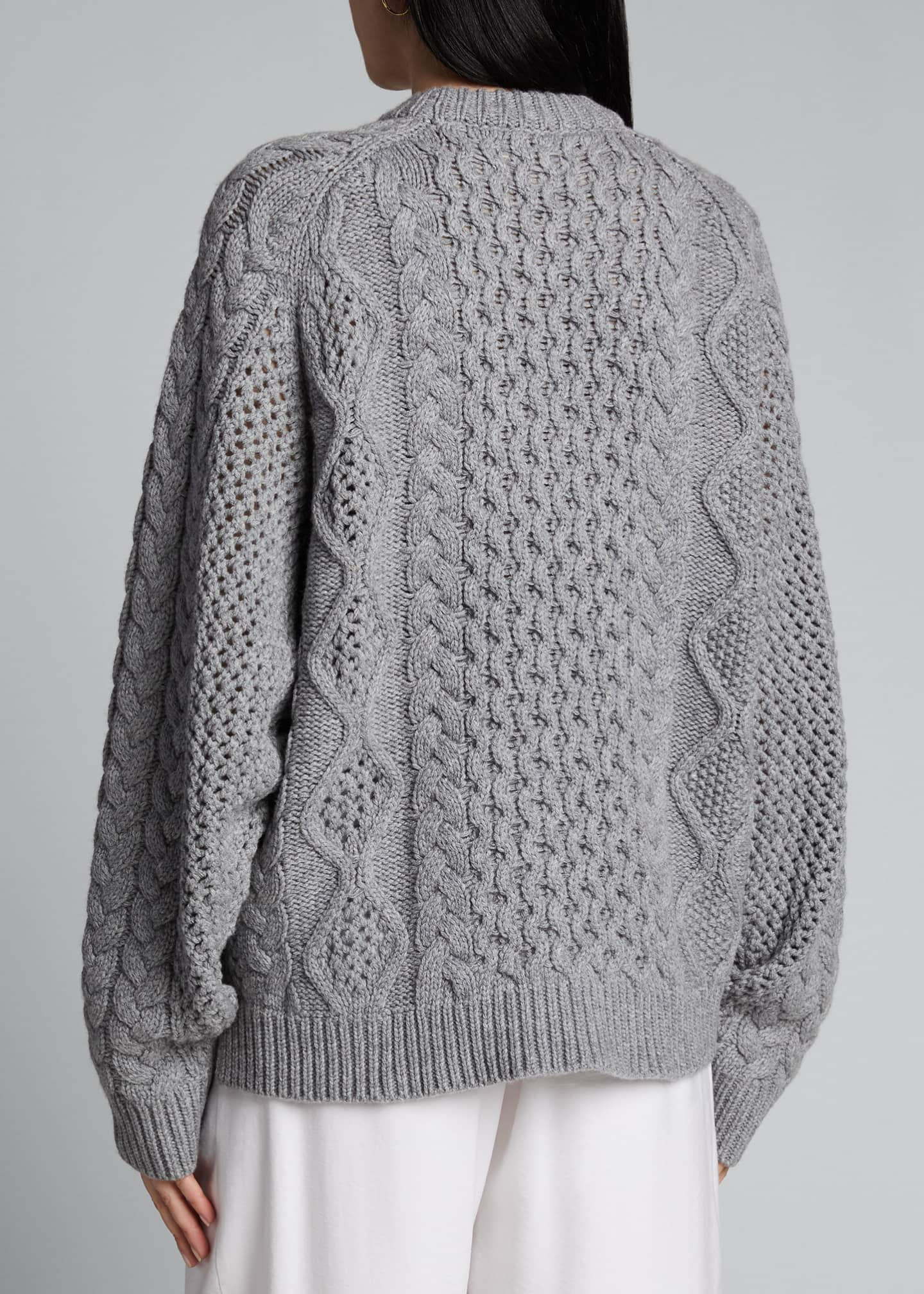 Image 2 of 5: Chunky Wool-Cashmere Sweater
