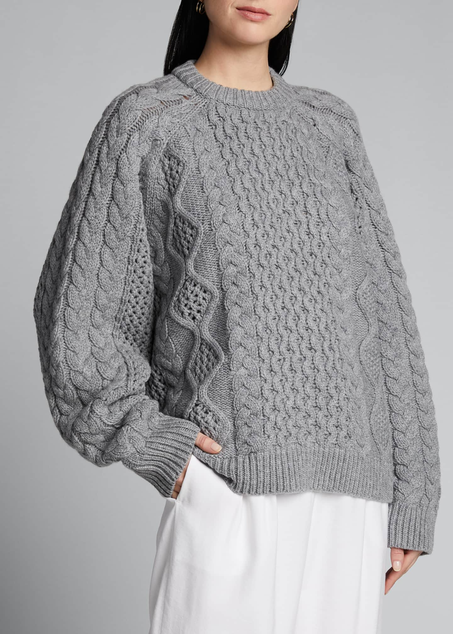 Image 3 of 5: Chunky Wool-Cashmere Sweater