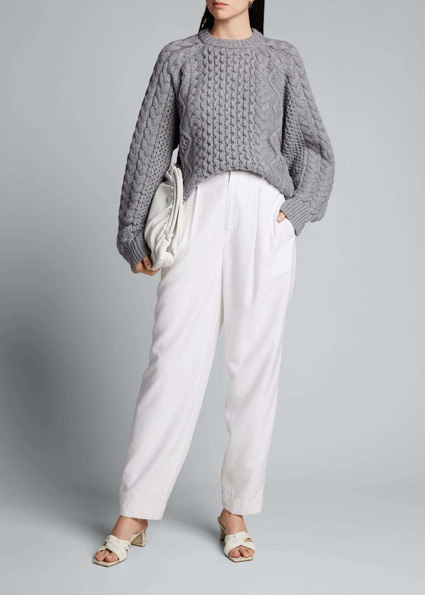 Image 1 of 5: Chunky Wool-Cashmere Sweater