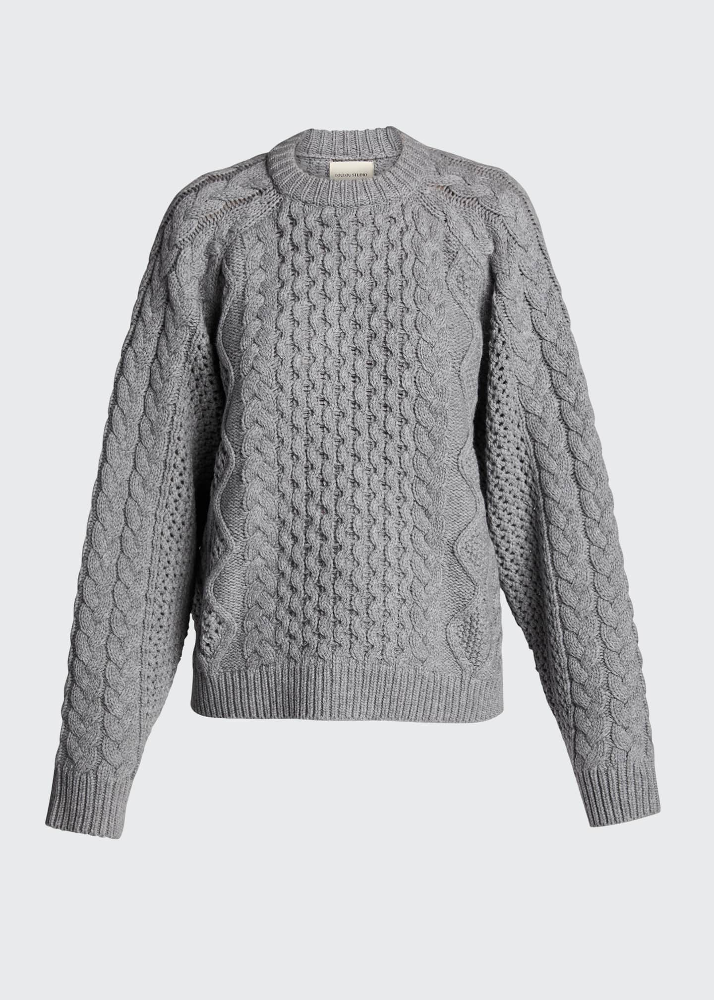 Image 5 of 5: Chunky Wool-Cashmere Sweater
