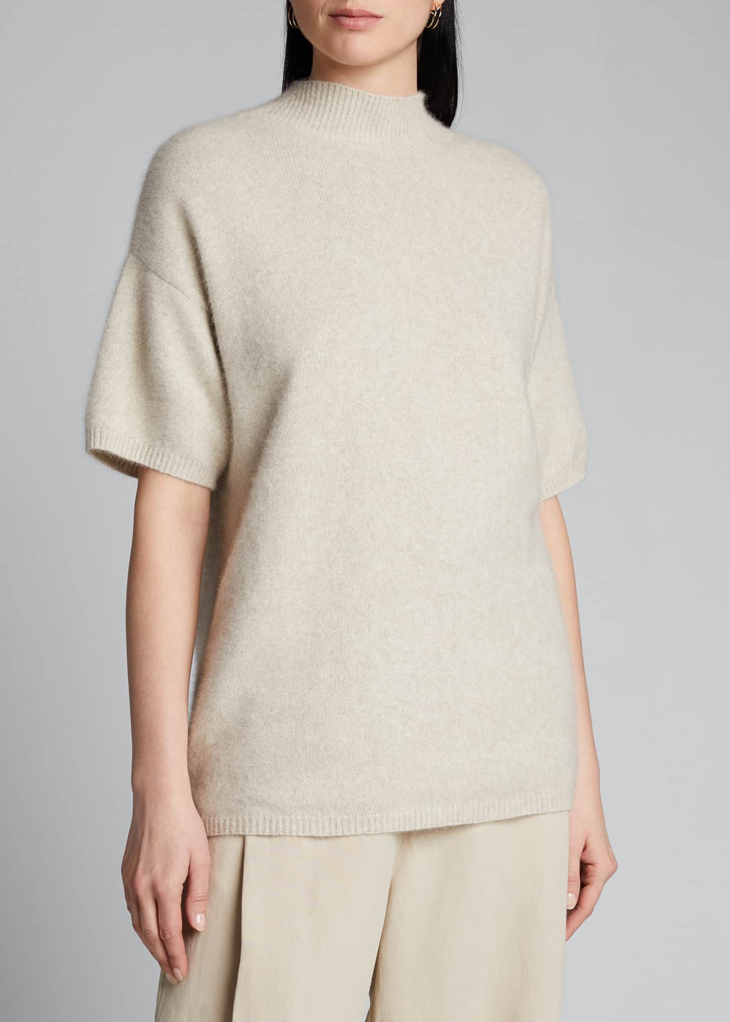 Image 3 of 5: Wool Mock-Neck Slouchy Sweater
