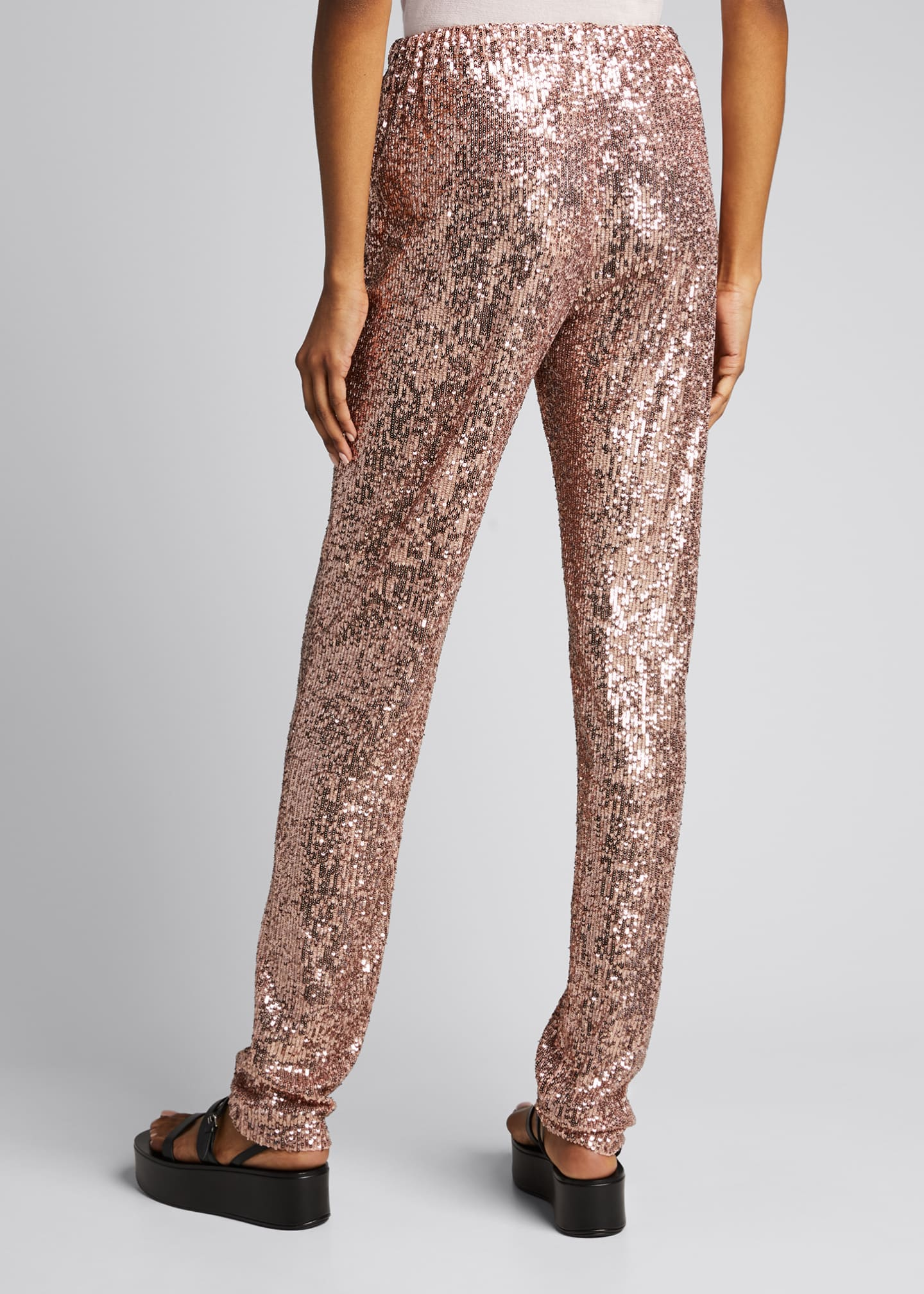 Image 2 of 5: Sequined Pull-On Skinny Pants