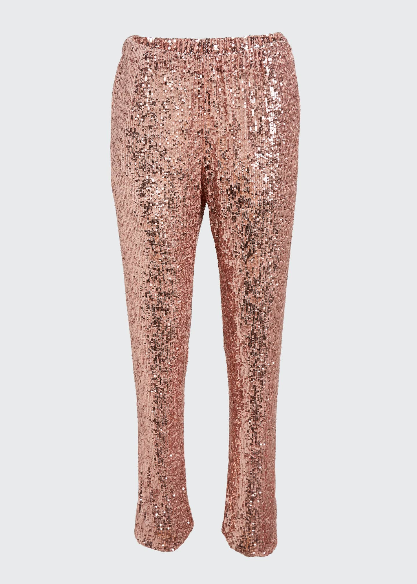 Image 5 of 5: Sequined Pull-On Skinny Pants