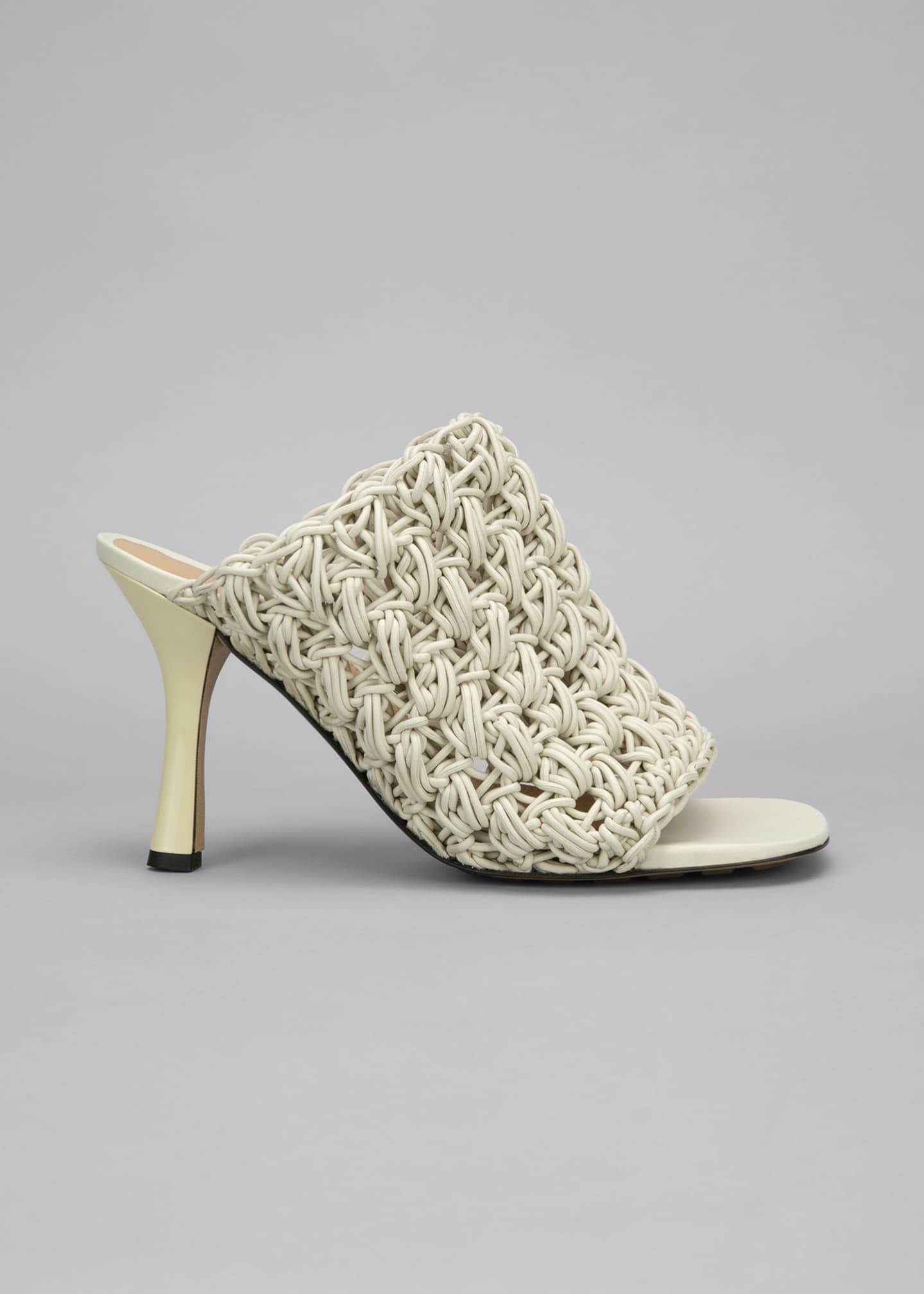 Image 1 of 5: 90mm Crochet Napa Mule Sandals