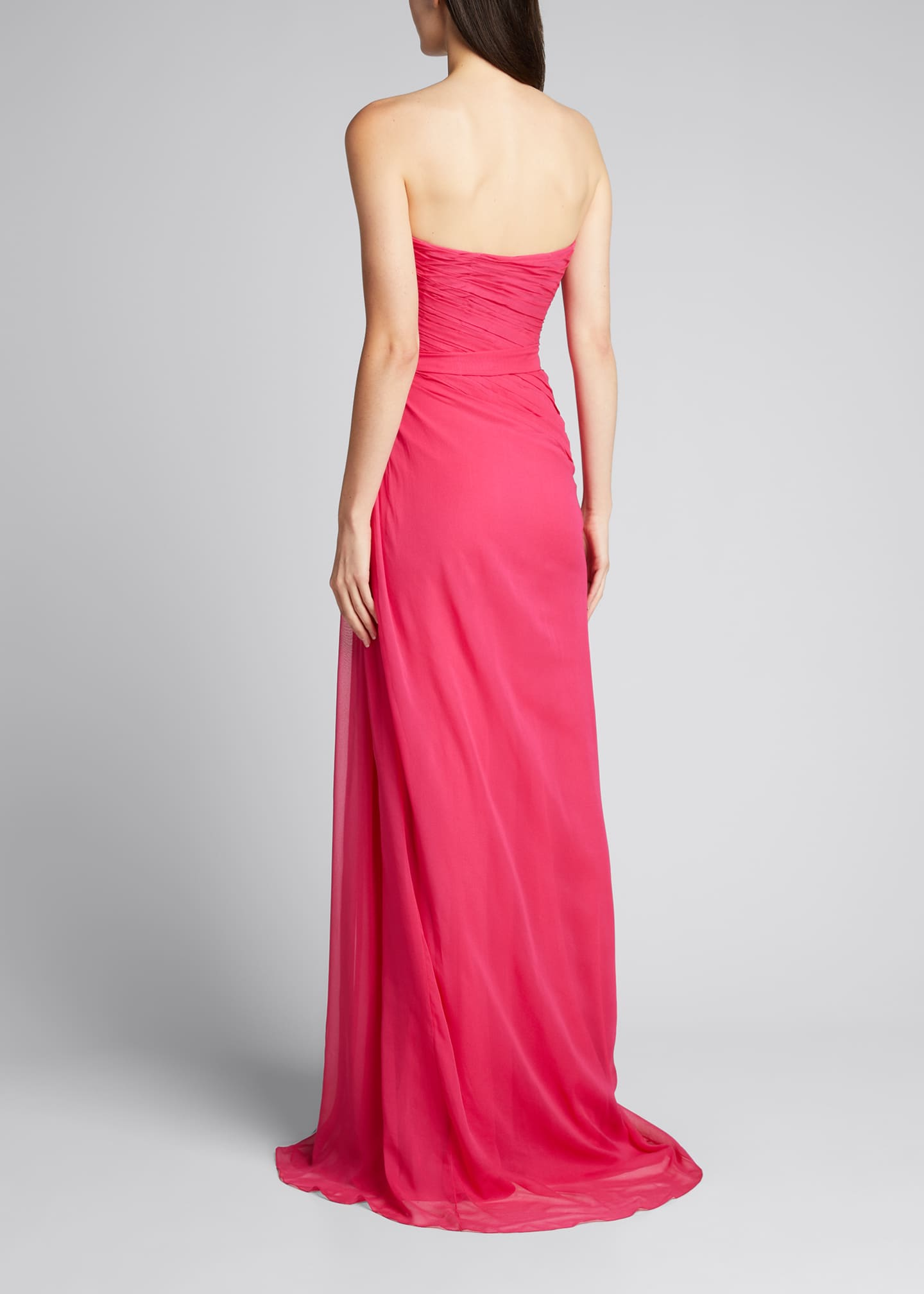 Image 2 of 5: Sweetheart Strapless Chiffon Gown
