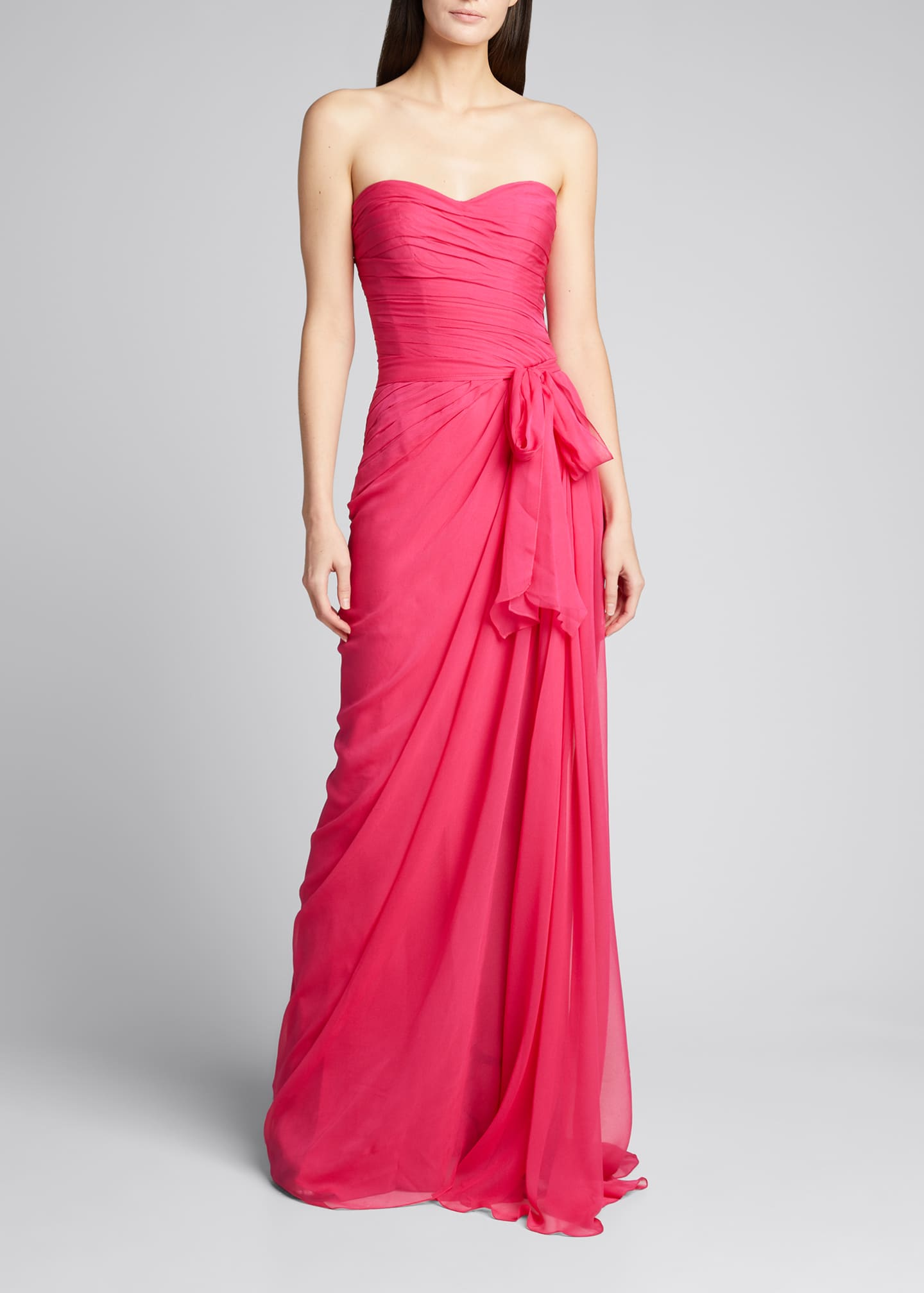 Image 3 of 5: Sweetheart Strapless Chiffon Gown