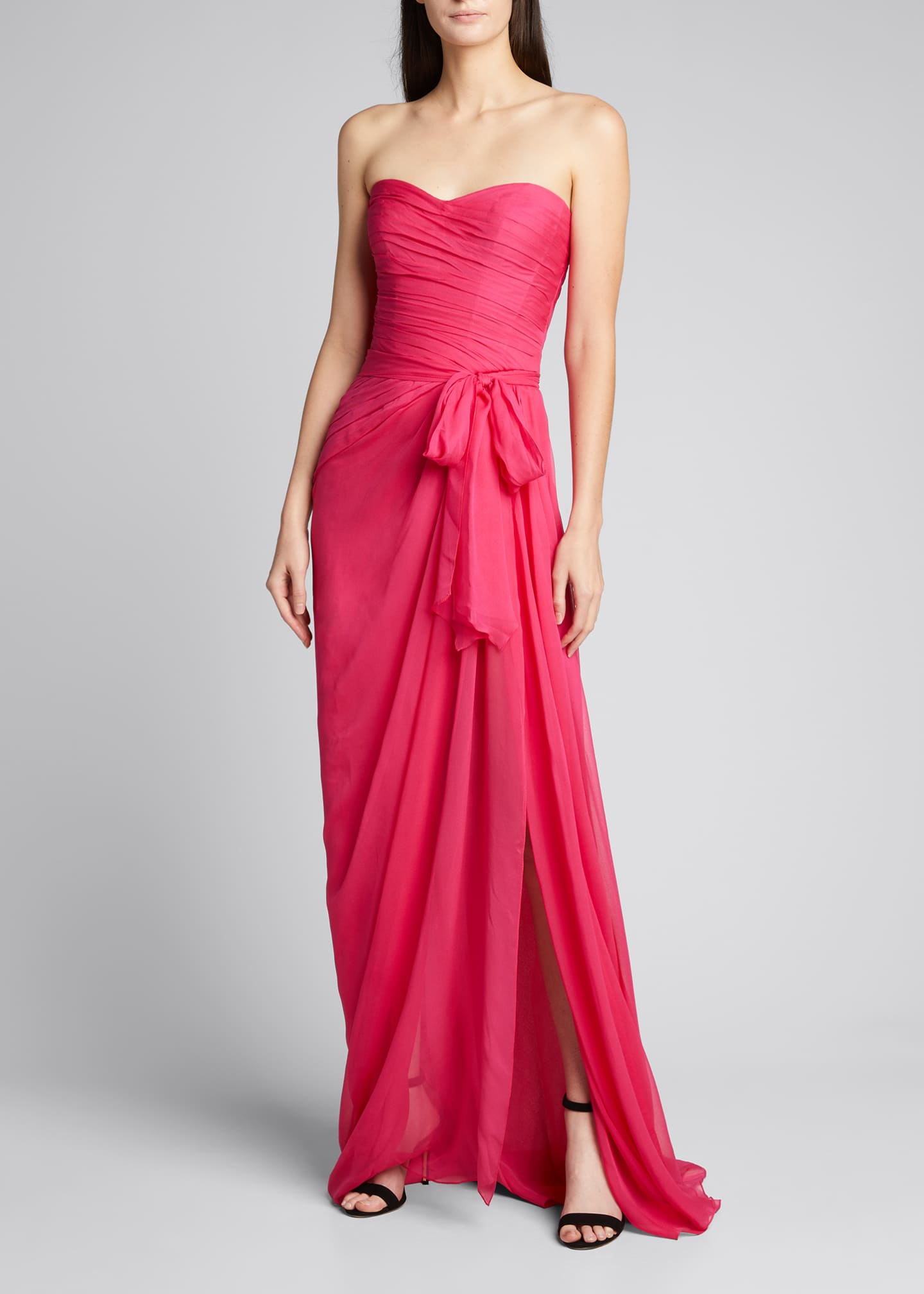 Image 1 of 5: Sweetheart Strapless Chiffon Gown
