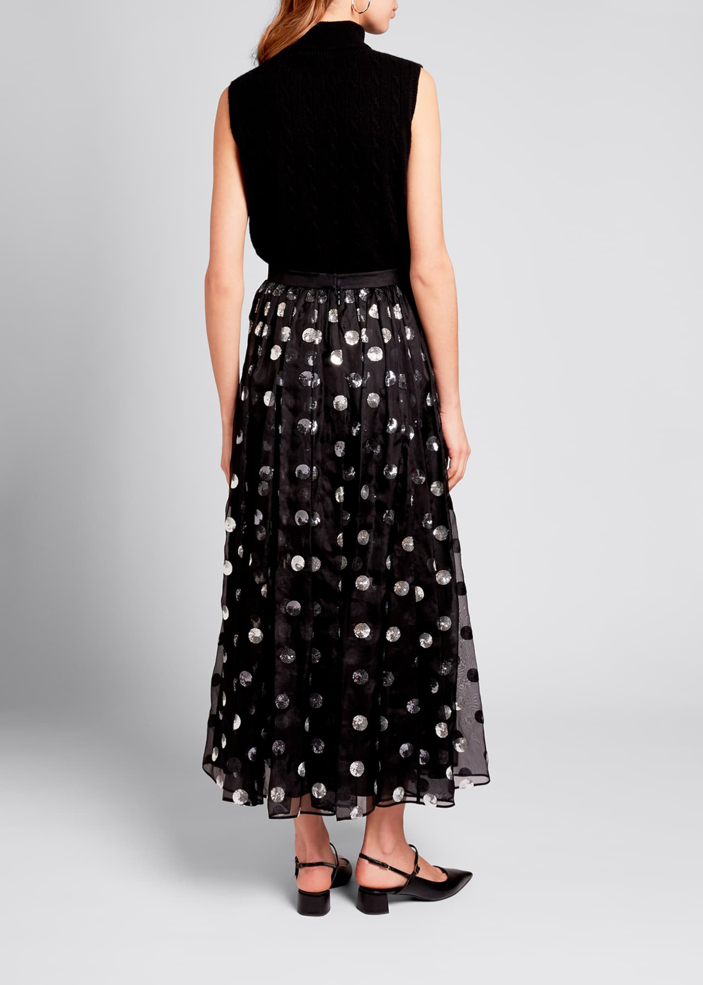 Image 2 of 3: Silk Ankle-Length Skirt