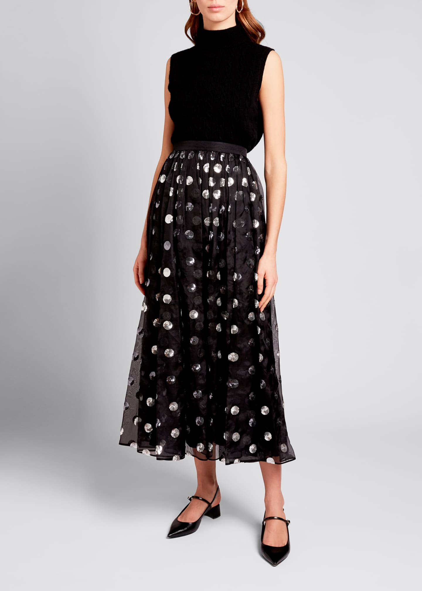 Image 1 of 3: Silk Ankle-Length Skirt