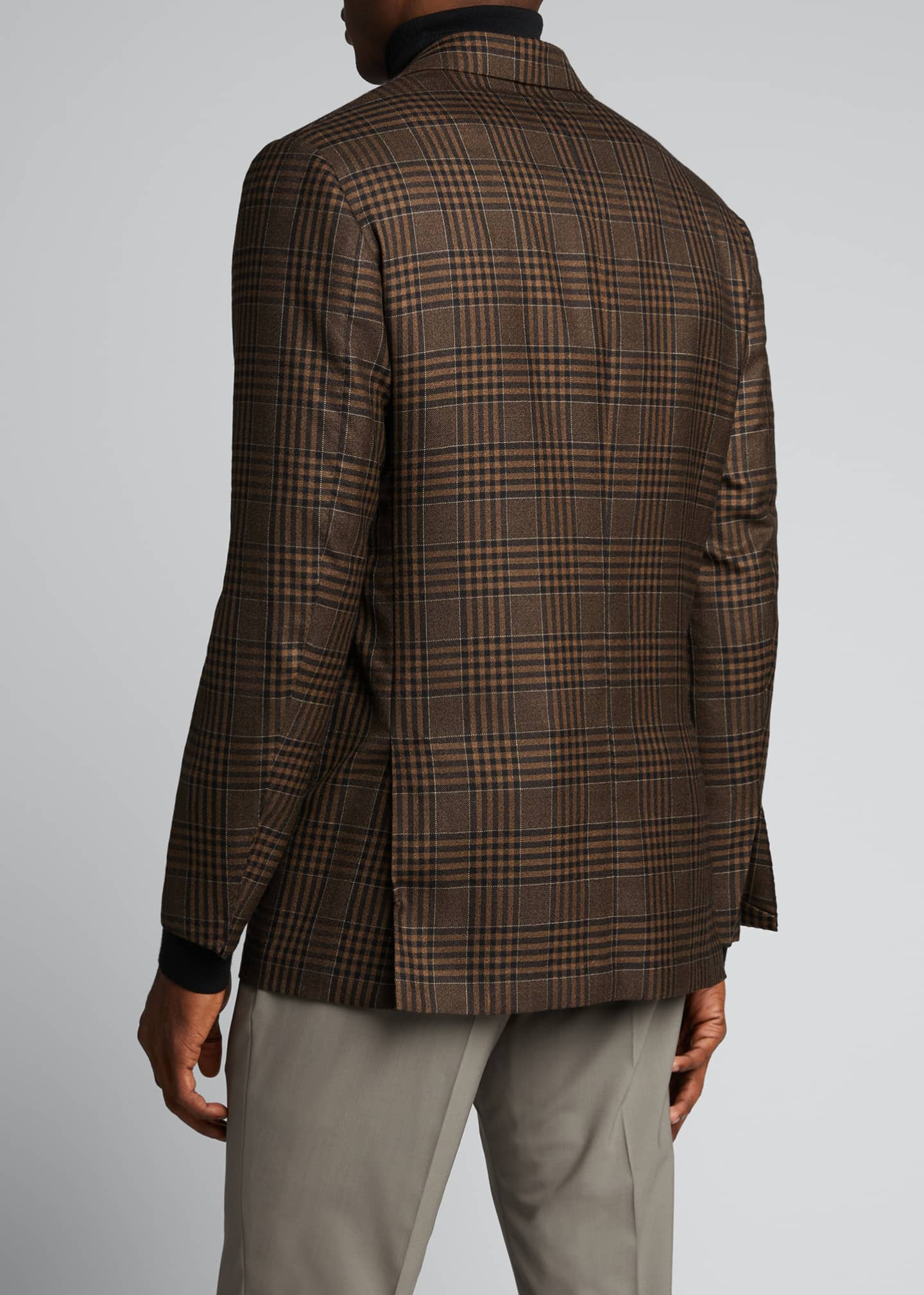Image 2 of 5: Men's Large Plaid Cashmere Sport Jacket