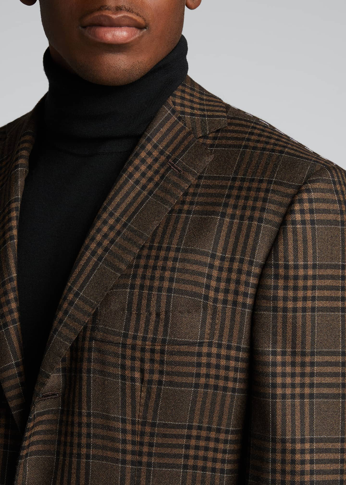 Image 4 of 5: Men's Large Plaid Cashmere Sport Jacket