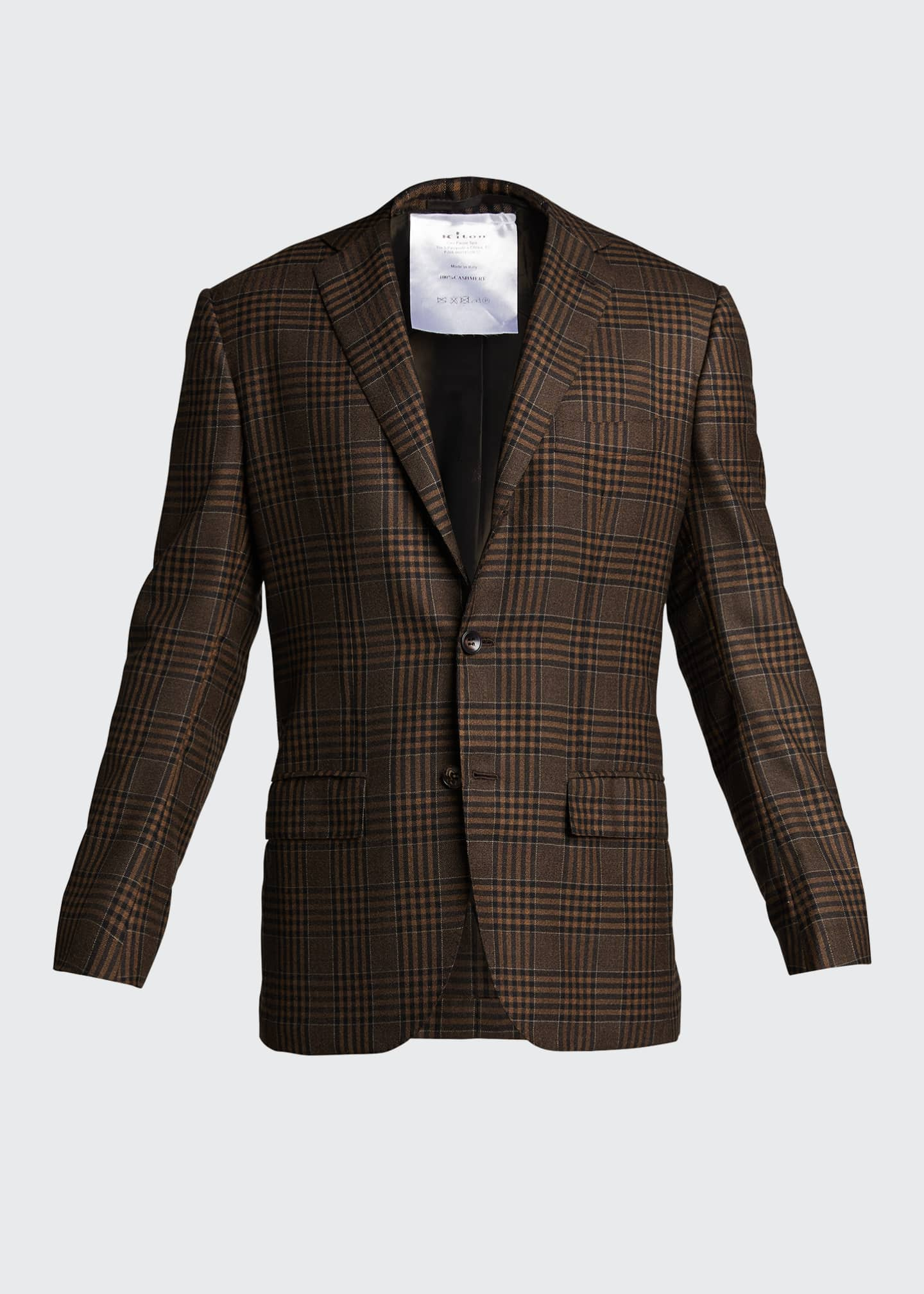 Image 5 of 5: Men's Large Plaid Cashmere Sport Jacket