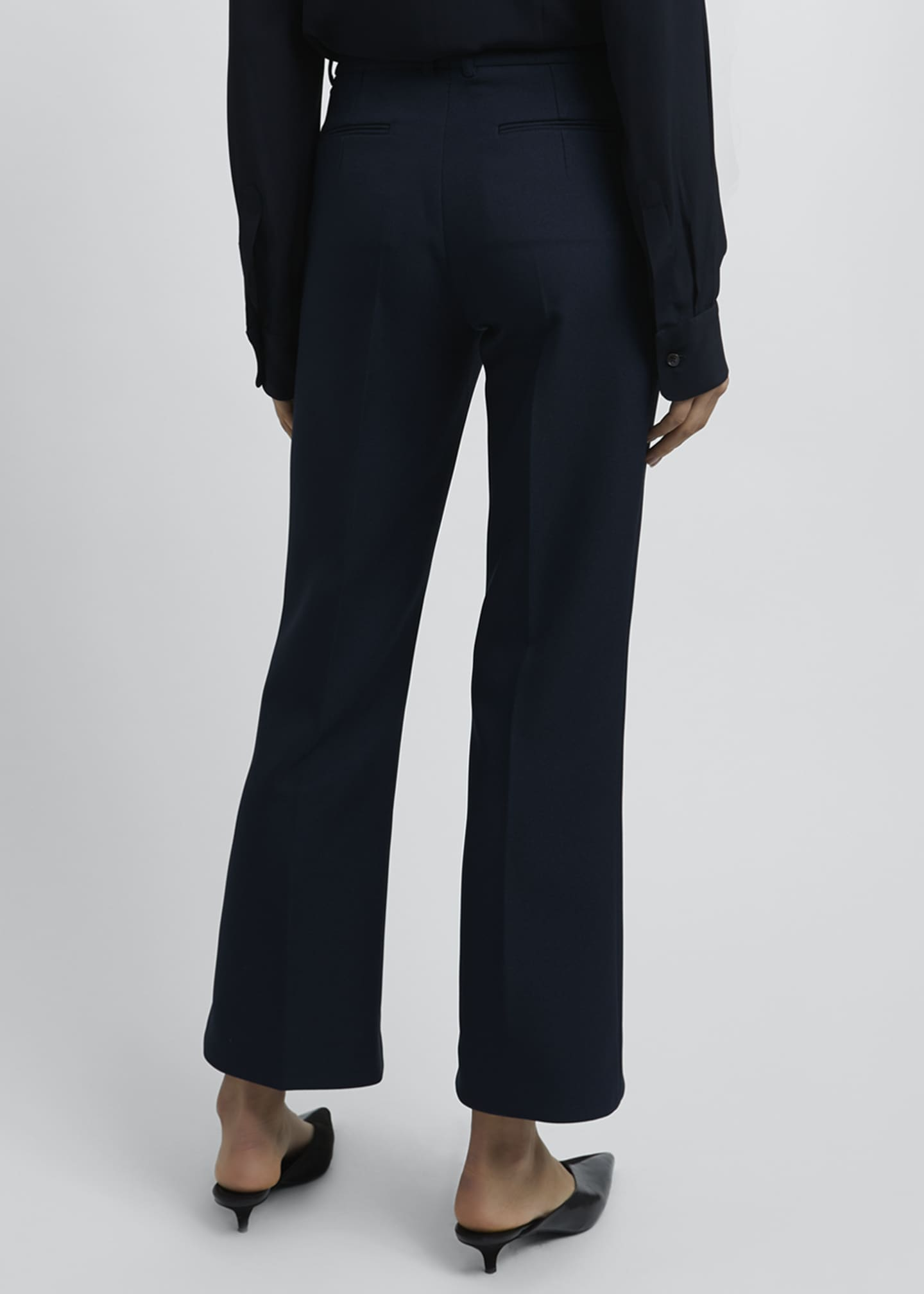 Image 2 of 4: Kick-Split Cropped Pants