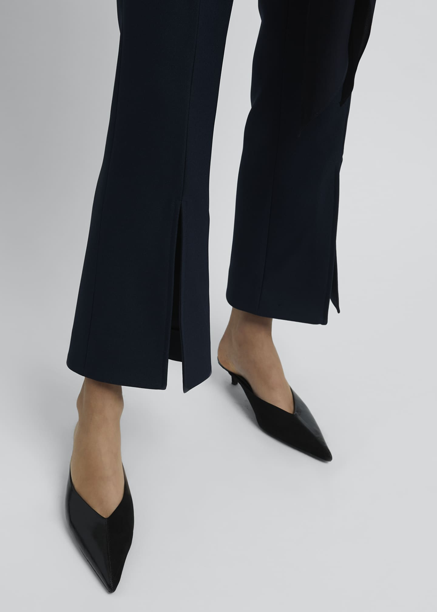 Image 4 of 4: Kick-Split Cropped Pants