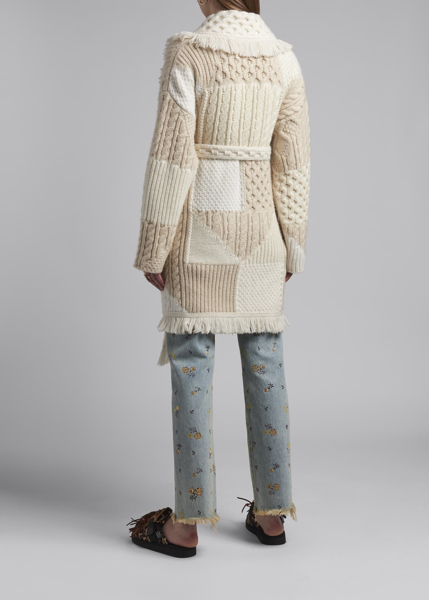 Image 2 of 4: Cashmere-Wool Quilted Cardigan