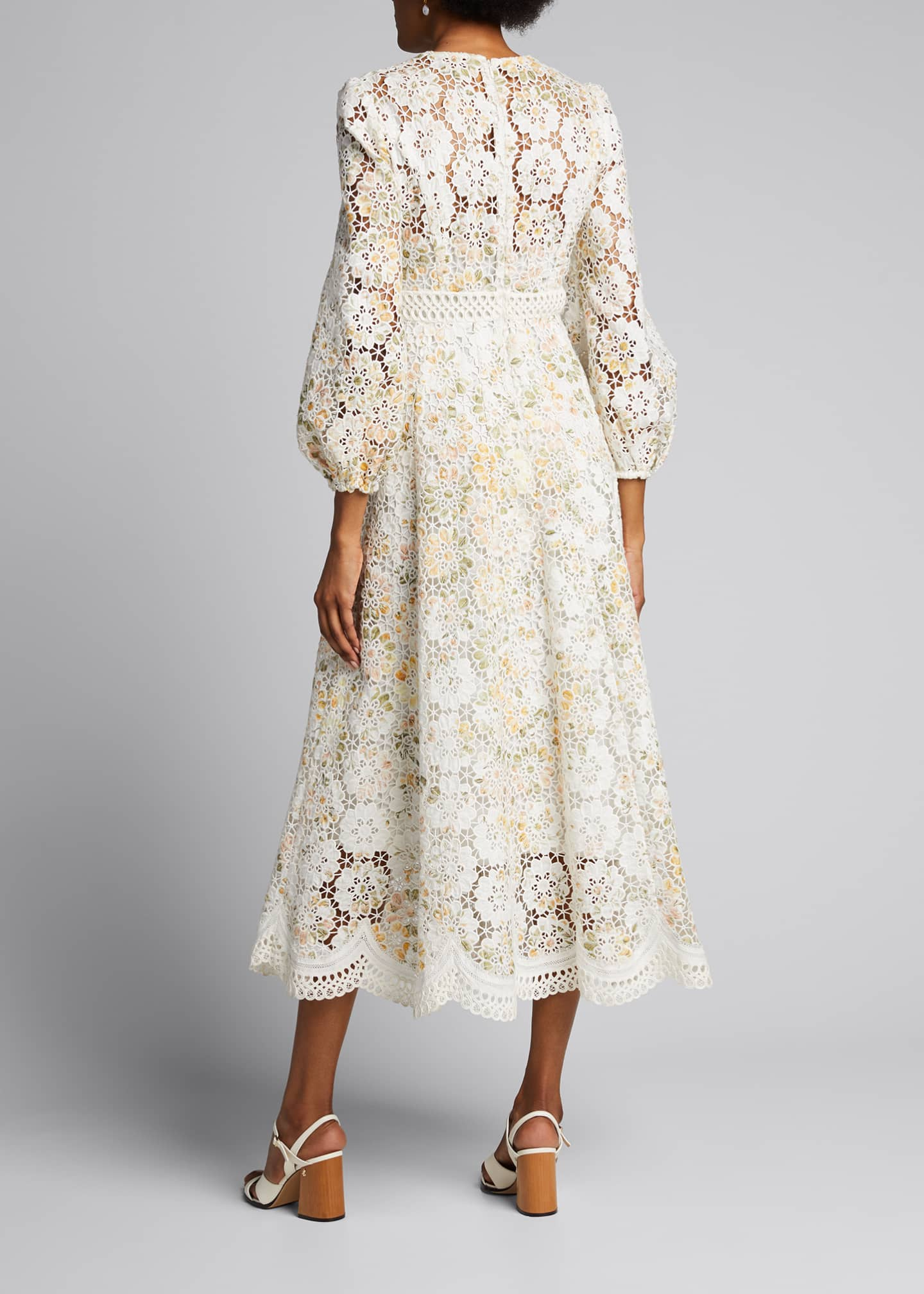 Image 2 of 5: Amelie Embroidered Long Dress