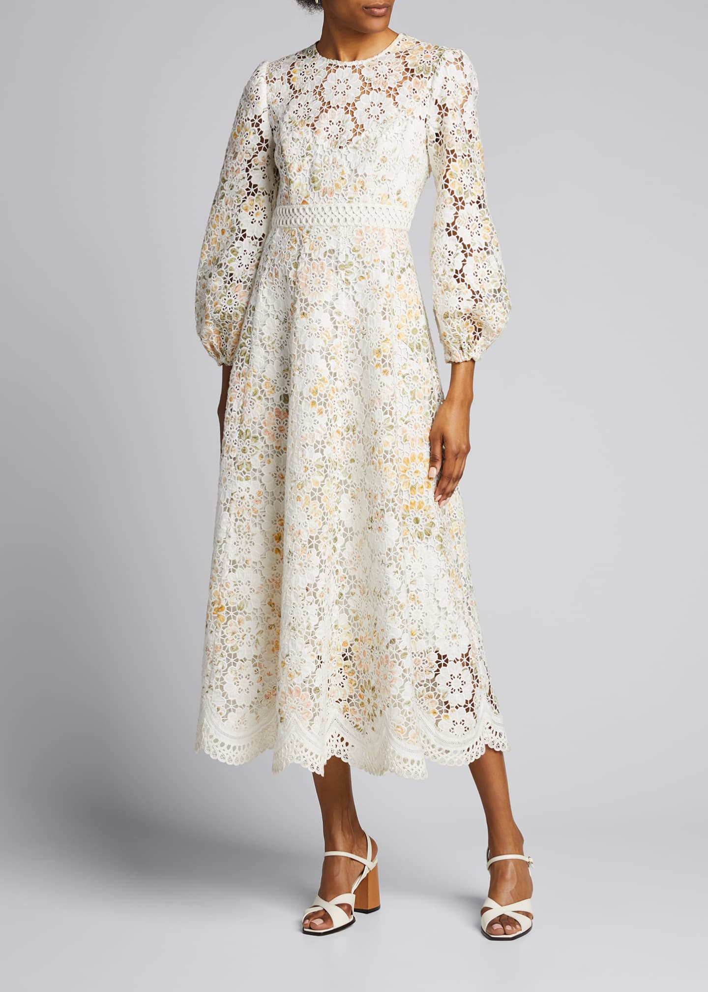 Image 3 of 5: Amelie Embroidered Long Dress